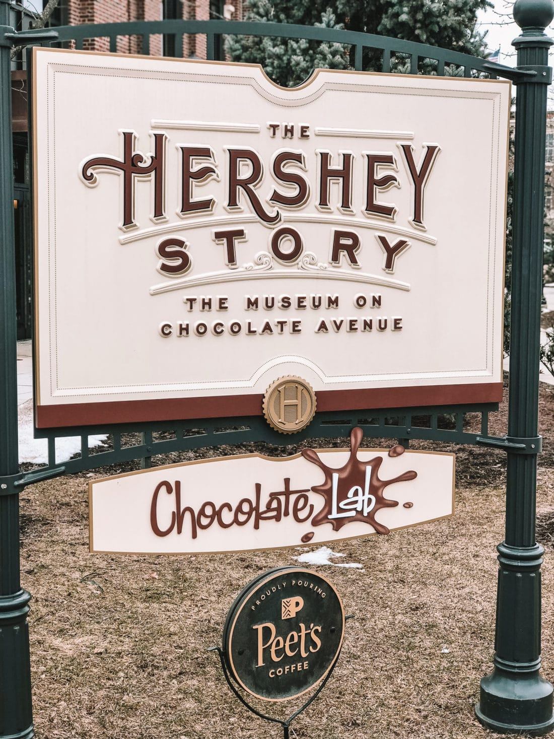 Hershey Story Museum Sign. Hershey Story Museum Sign. Stop by the Hershey Story Museum in Hershey, PA to learn more about the most iconic chocolate empire.