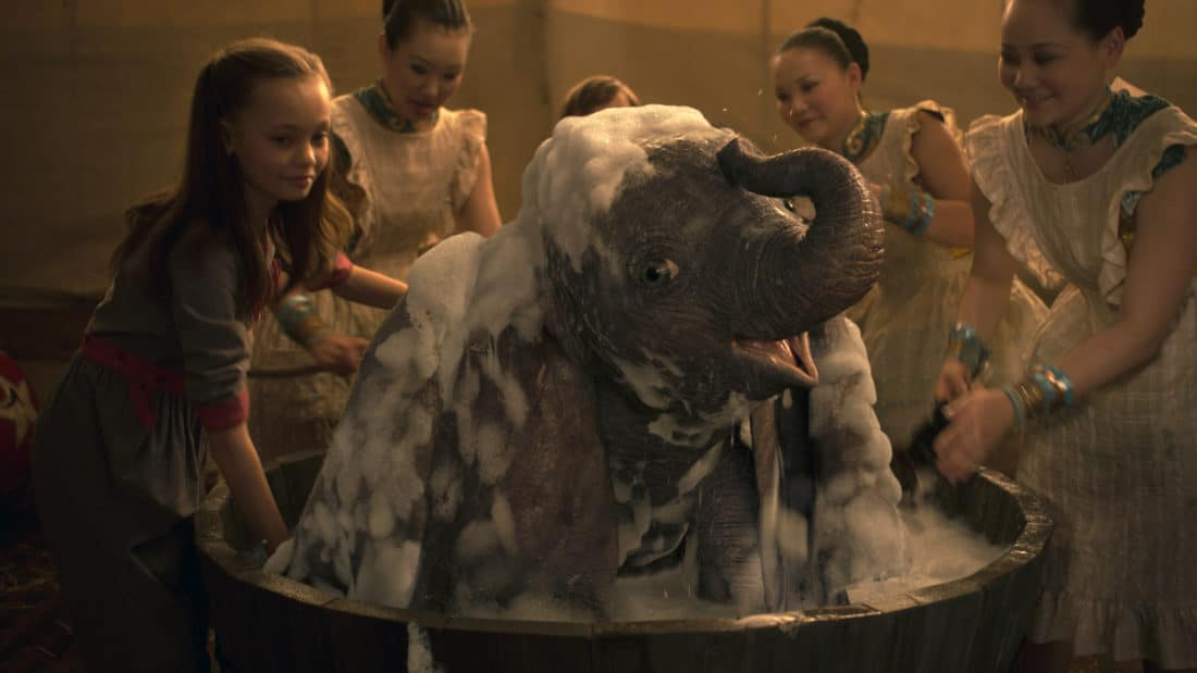 """In Disney's live-action reimagining of """"Dumbo,"""" Milly Farrier—the daughter of a former circus star charged with caring for a newborn elephant—quickly embraces the newest member of their circus family. Featuring Nico Parker as Milly, """"Dumbo"""" opens in U.S. theaters on March 29, 2019."""
