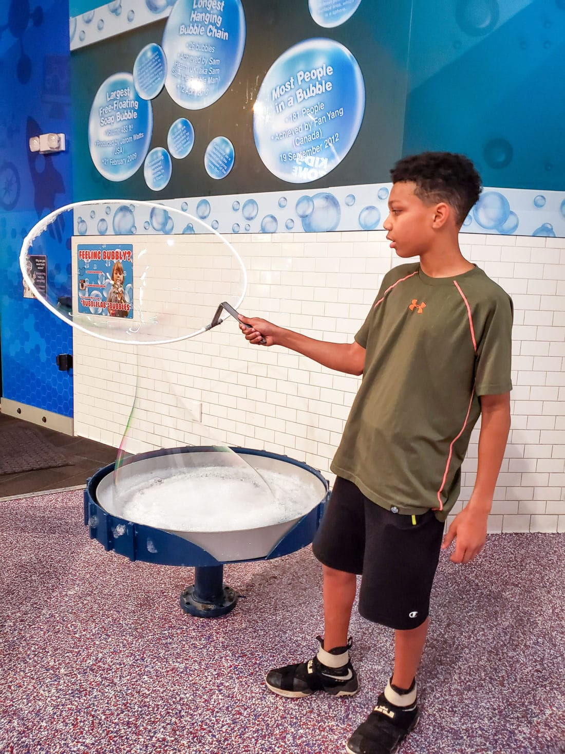 "WonderWorks Bubble Lab Malik. One of the top things to do in Pigeon Forge, WonderWorks Indoor Amusement park, is one of the best Pigeon Forge Attractions. With over 35,000 square feet of ""edu-tainment,"" WonderWorks is an amusement park for the mind. Read our full review on the blog."