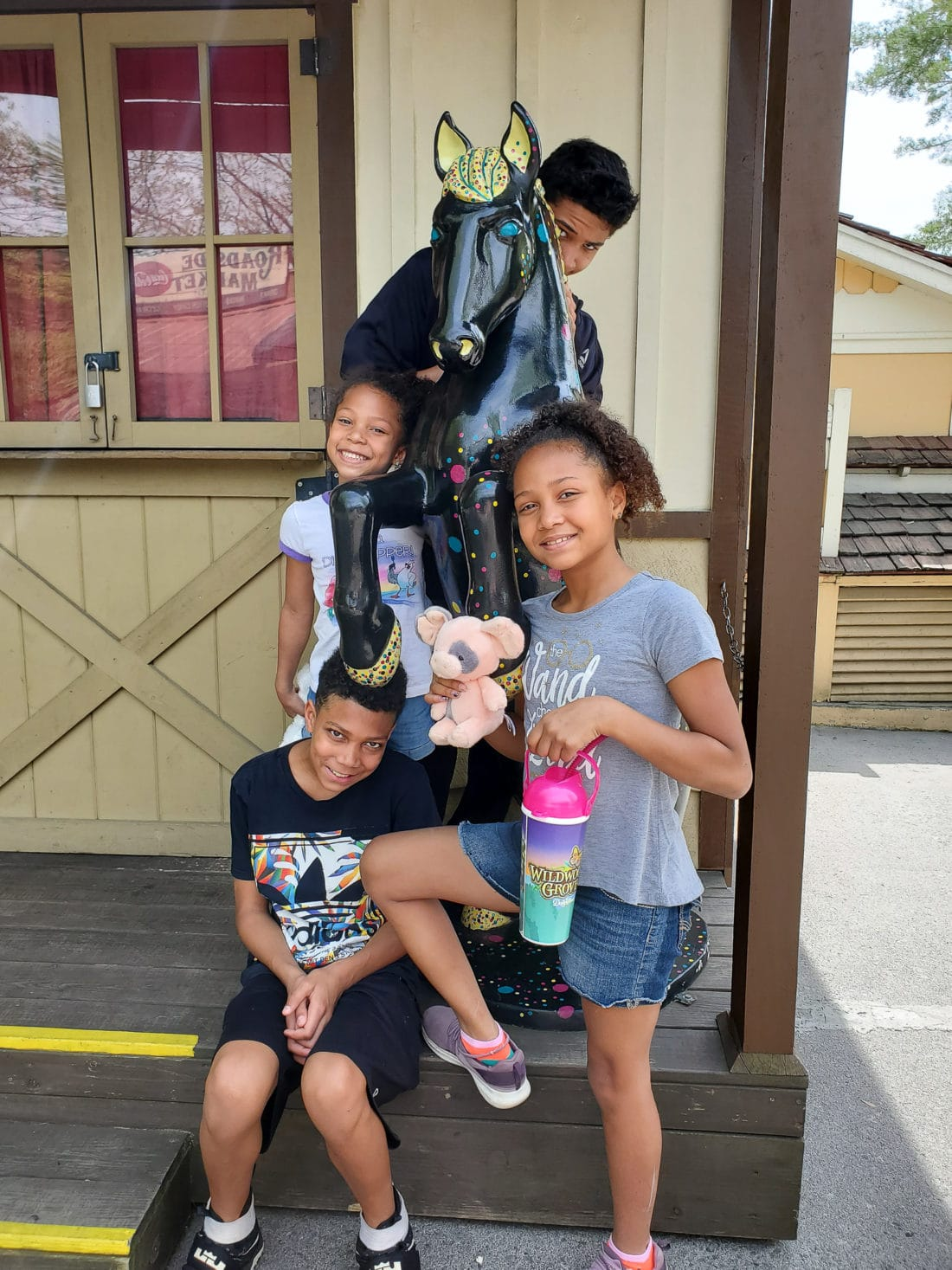Dollywood Family Shot. My family spent the day playing and eating at the Dollywood theme park, and we are happy to report we had a blast! Read all about our trip and learn why Dollwood is a must visit destination while you are in Pigeon Forge, TN.
