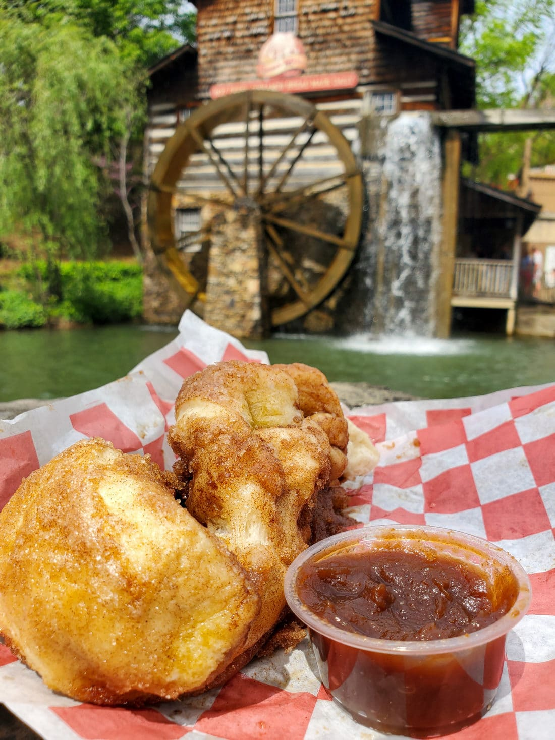 Grist Mill Fresh Cinnamon Bread Apple Butter. My family spent the day playing and eating at the Dollywood theme park, and we are happy to report we had a blast! Read all about our trip and learn why Dollwood is a must visit destination while you are in Pigeon Forge, TN.