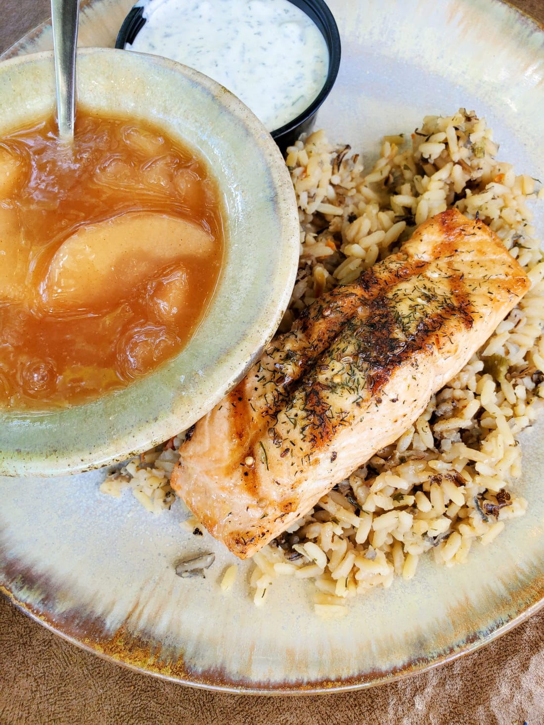 Pottery House Cafe Salmon and Rice. The Pottery House Cafe serves freshly made sandwiches, salads, and hearty entrees on dishes created by our potters right next door. Read my full review which includes photos of this beautiful and delicious location in Pigeon Forge, TN.