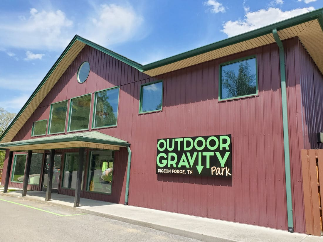 Outdoor Gravity Park Pigeon Forge, TN. Outdoor Gravity Park is an amazing adventure destination in Pigeon Forge, Tennessee at the foothills of the Smoky Mountains featuring zorbing, an attraction straight out of New Zealand.