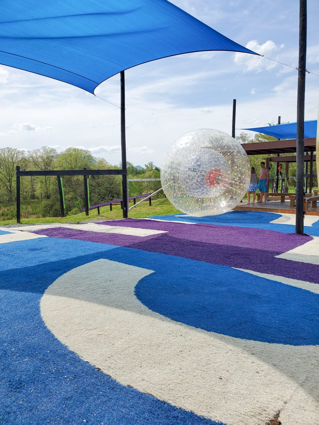 Outdoor Gravity Park Platform. Outdoor Gravity Park is an amazing adventure destination in Pigeon Forge, Tennessee at the foothills of the Smoky Mountains featuring zorbing, an attraction straight out of New Zealand.