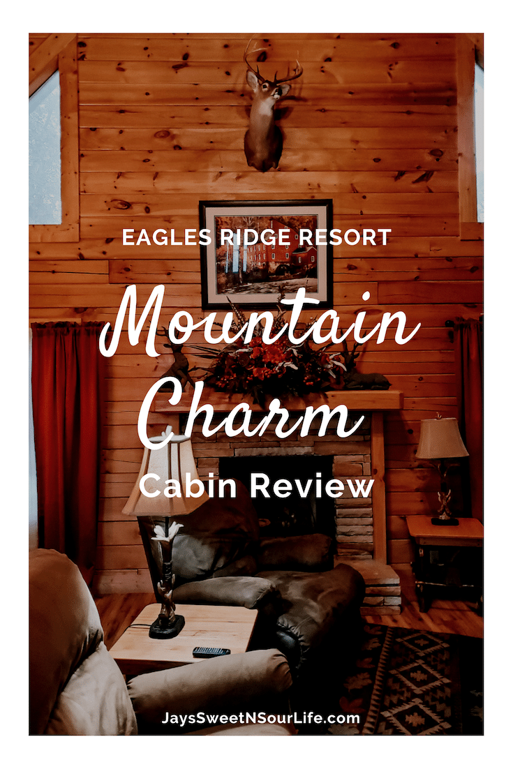 Eagle Ridge Resorts Mountain Charm Cabin Review. The Mountain Charm 3 Bedroom Cabin at Eagles Ridge Resort offers ample space and luxury. The perfect place to stay during a family vacation to Pigeon Forge, TN.