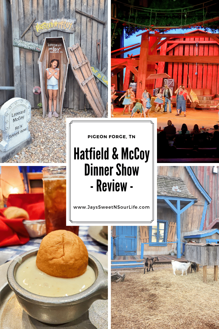 Hatfield & McCoy Dinner Show Review. Nothing says entertainment like a good family feud in the Hatfield & McCoy Dinner Show. Laugh until your sides hurt in this hilarious show that offers an all you can eat southern style cooking dinner.