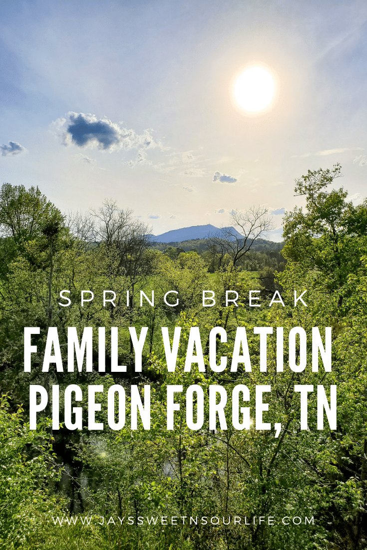 Spring Break Family Vacation Pigeon Forge, TN. Spend a week in Pigeon Forge, TN and find out exactly why my family can't wait to go back. With amazing places to eat and play such as Dollywood, Outdoor Gravity Park, The Pottery House Cafe and the Bullfish Grill. Leaving to go back home will be the hardest part of the trip. Read all about our full 5 day adventure on the blog now!