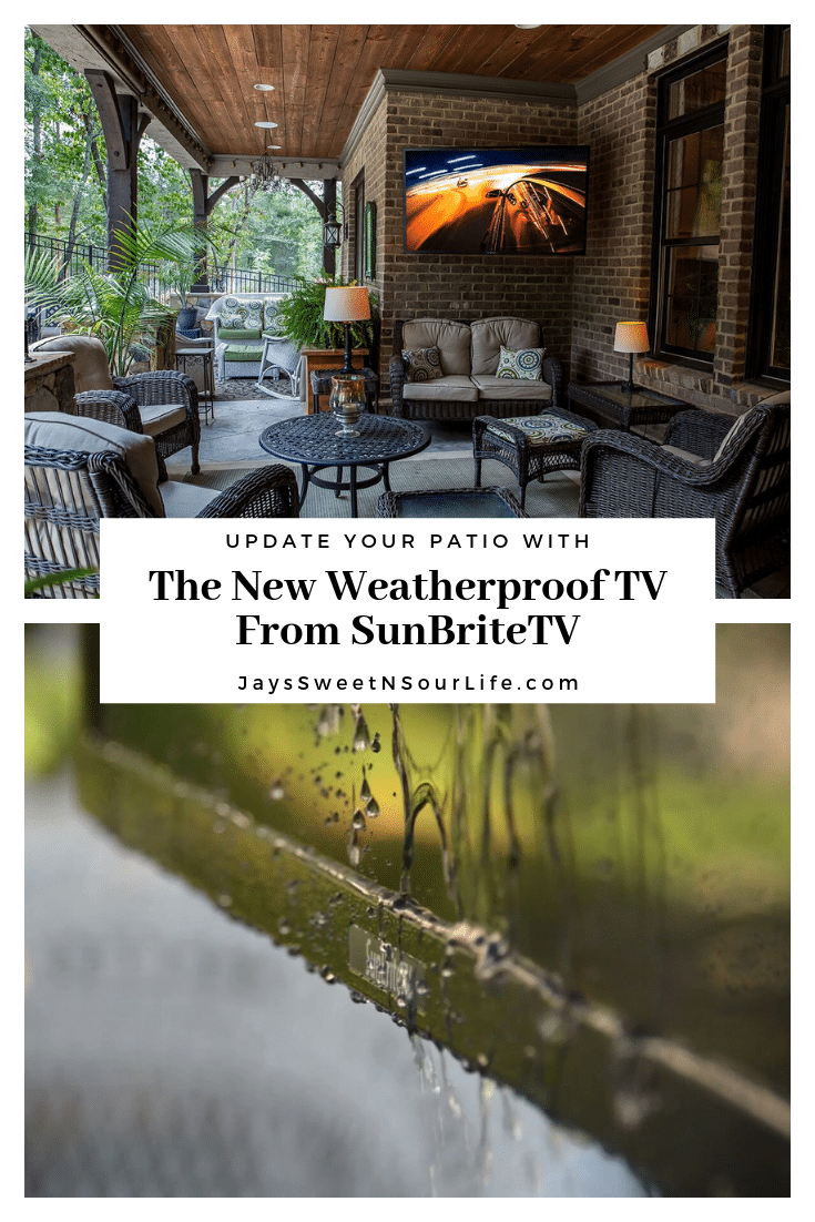 Update Your Patio With The New Weatherproof TV From SunBriteTV. Whether you want to host a fun family movie night outside or have an outdoor party featuring the big game, the Veranda Series of SunBriteTVs is ready to make your favorite outdoor space a real destination.