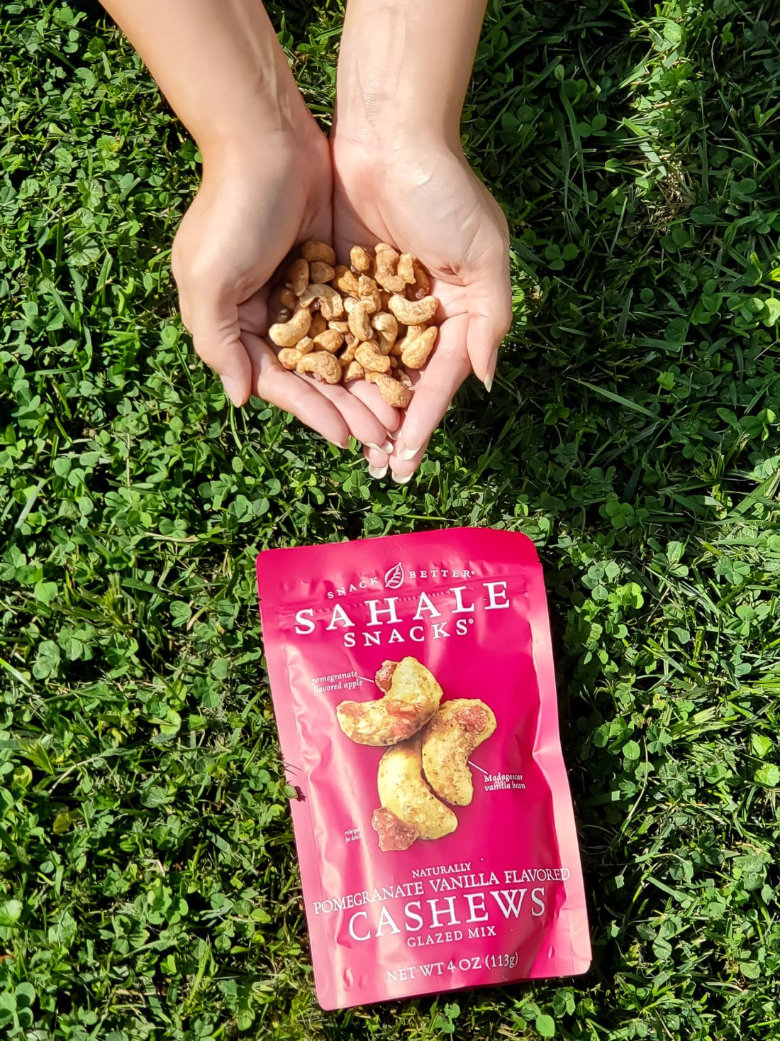 Sahale Snacks Pomegrante Vanilla Flavored Cashews. Snack easy with Sahale snacks, they are the delicious option that fit seemlessly into your everyday lives. Sahale Snacks use unique combinations and layers of flavor with real ingredients to elevate your everyday snacking experience.
