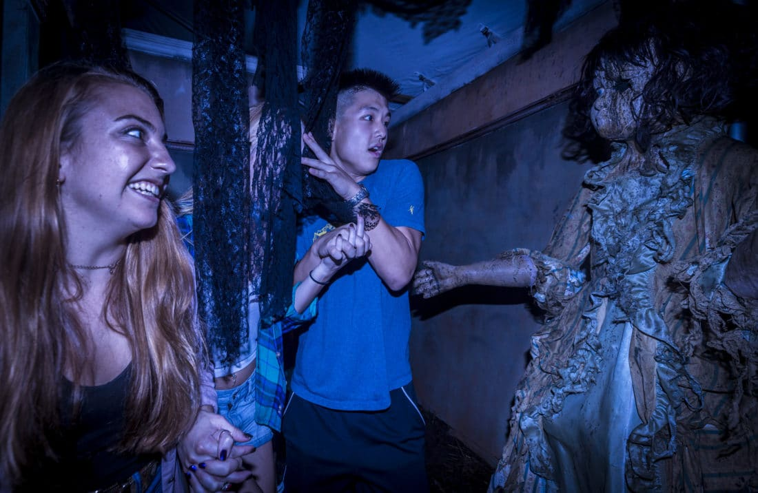Busch Gardens Howl-O-Scream Haunted House. As the temperatures cool down the fun heats up as Busch Gardens® Williamsburg's Howl-O-Scream® returns as one of the best Halloween-themed events on the east coast. Read what to expect at their 2019 Howl-O-Scream event along with all the new additions!