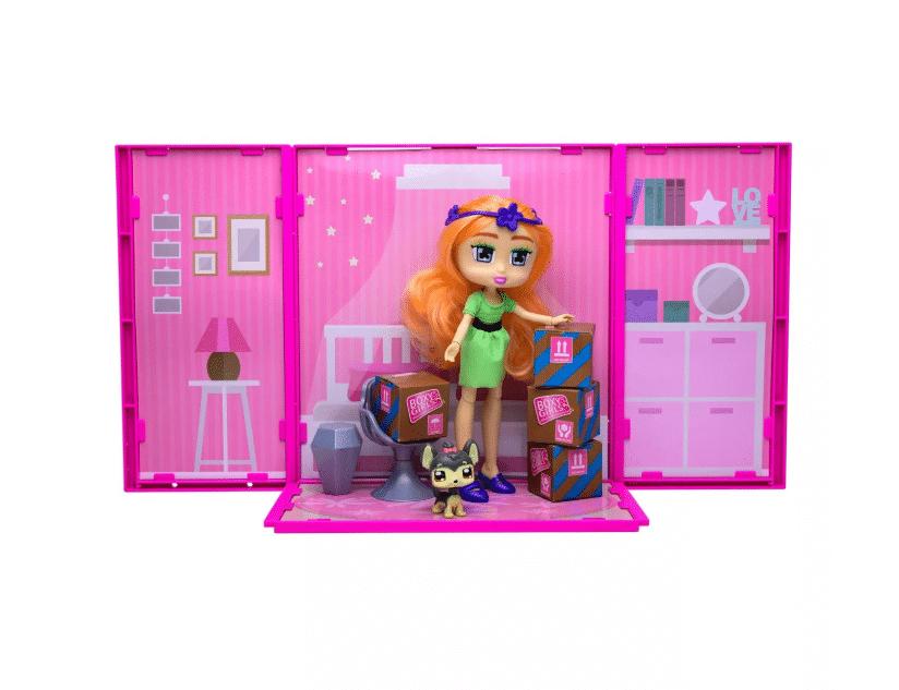 Boxy Girls™ Studio Suite with Seven! See what's inside to unbox! Fashion Surprises from shoes, clothes too accessories! Each Studio can connet to make a Boxy Girls™ World Bigger! Seven can sit & relax with her Boxy Pet while looking out the window into Boxy World! Jays Sweet N Sour Life 2019 Holiday Gift Guide for Kids.
