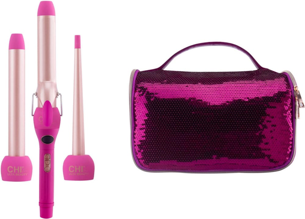 From soft waves to tight ringlets curls the CHI For ULTA Beauty 3 In 1 Curl Kit is equipped with wands and a curler that will provide a variety of unique styling options.