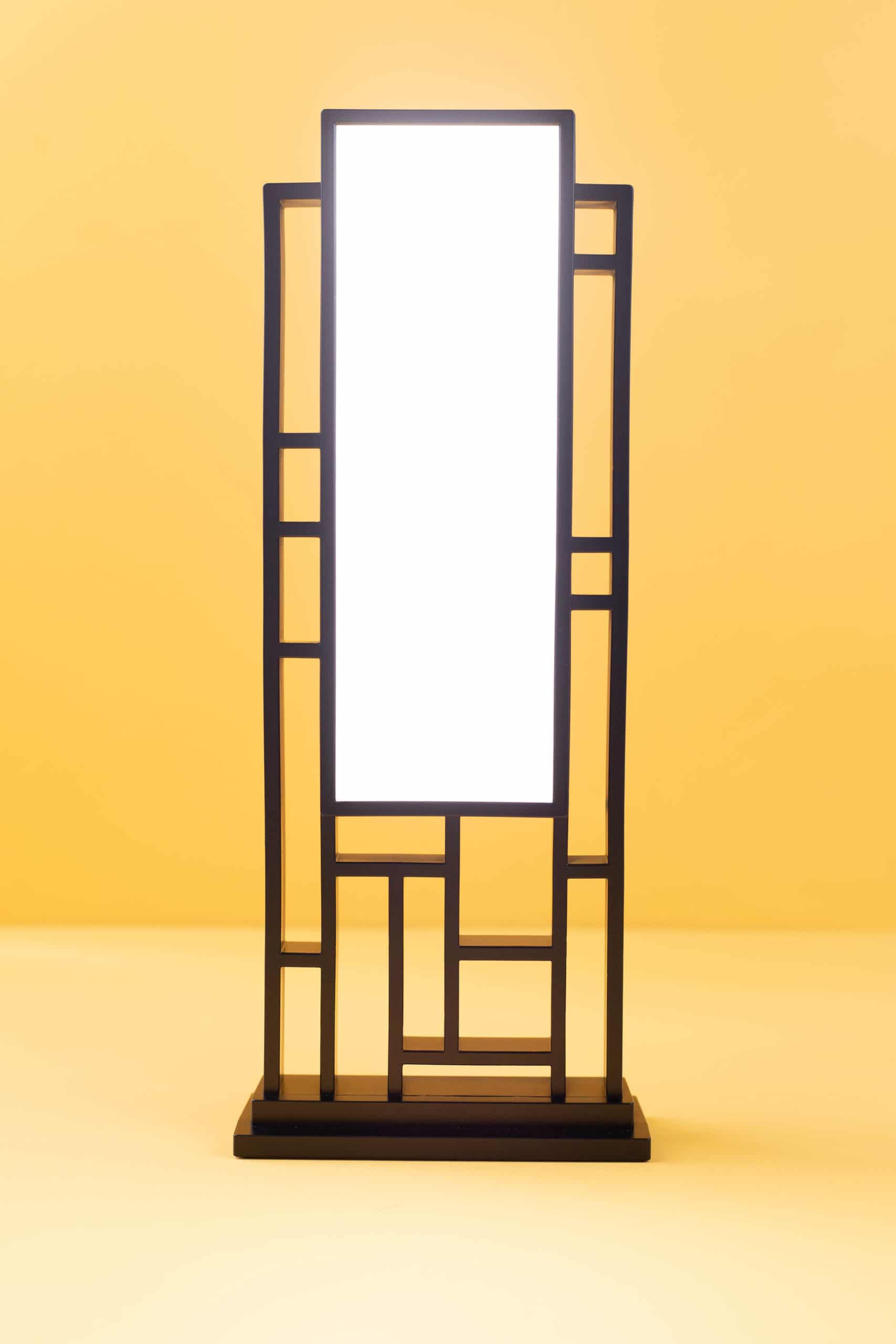 Circadian Optics Lattis Light Therapy Lamp. With its asymmetrical segments, clean silhouette and integrated light panel, it is a functional work of art. The lamp's revolutionary, quick one-touch operation makes it simple to use. No complicated settings to mess around with. 3 levels allows you to customize the brightness for the best efficacy and comfort.