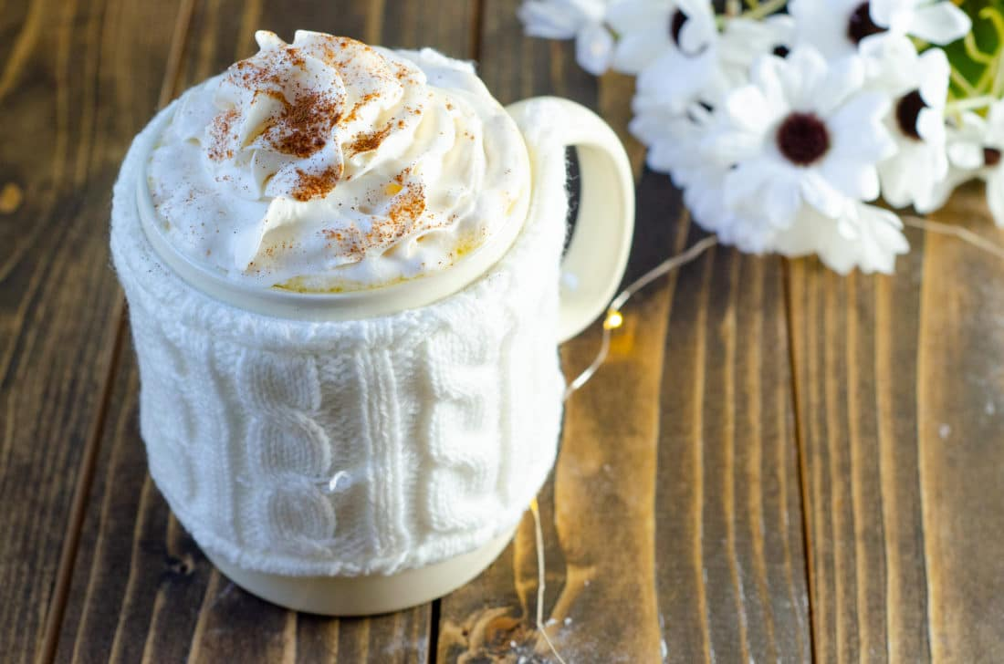 Butterbeer Latte. Mix up something delicious for your family this coming up holiday. Indulge in a warm cup of my Almond Milk Butterbeer Latte with a side of Sticky Toffee Pudding.