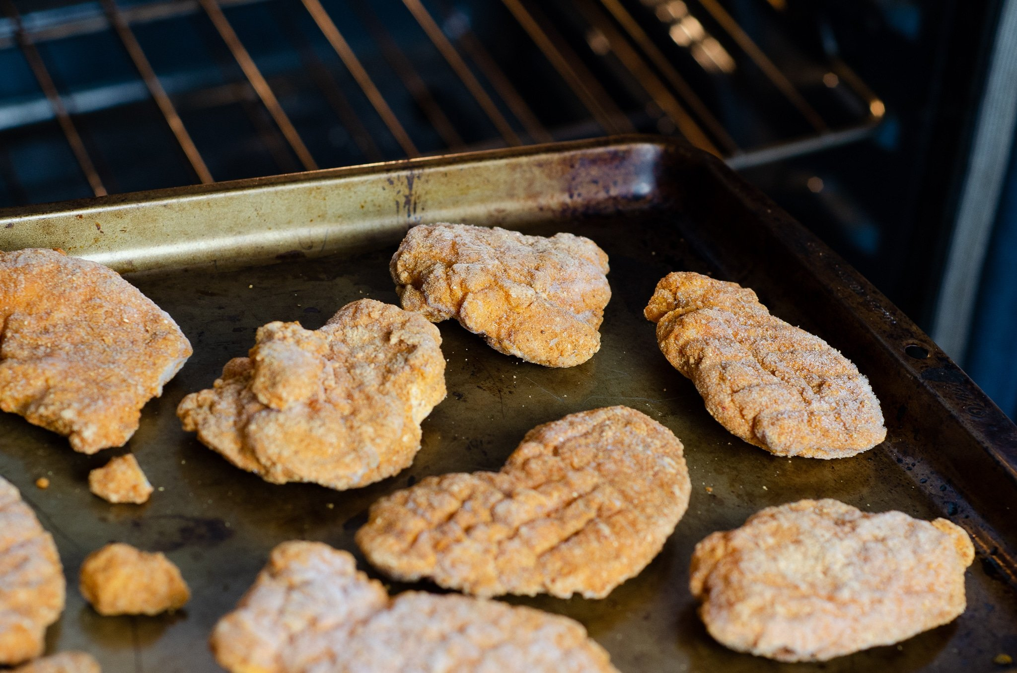 CAULIPOWER Chicken Tenders in Oven. CAULIPOWER's game-changing frozen chicken tenders start with high-quality chicken breast meat, coated with cauliflower and other gluten-free goodness, and then they are BAKED (not fried).