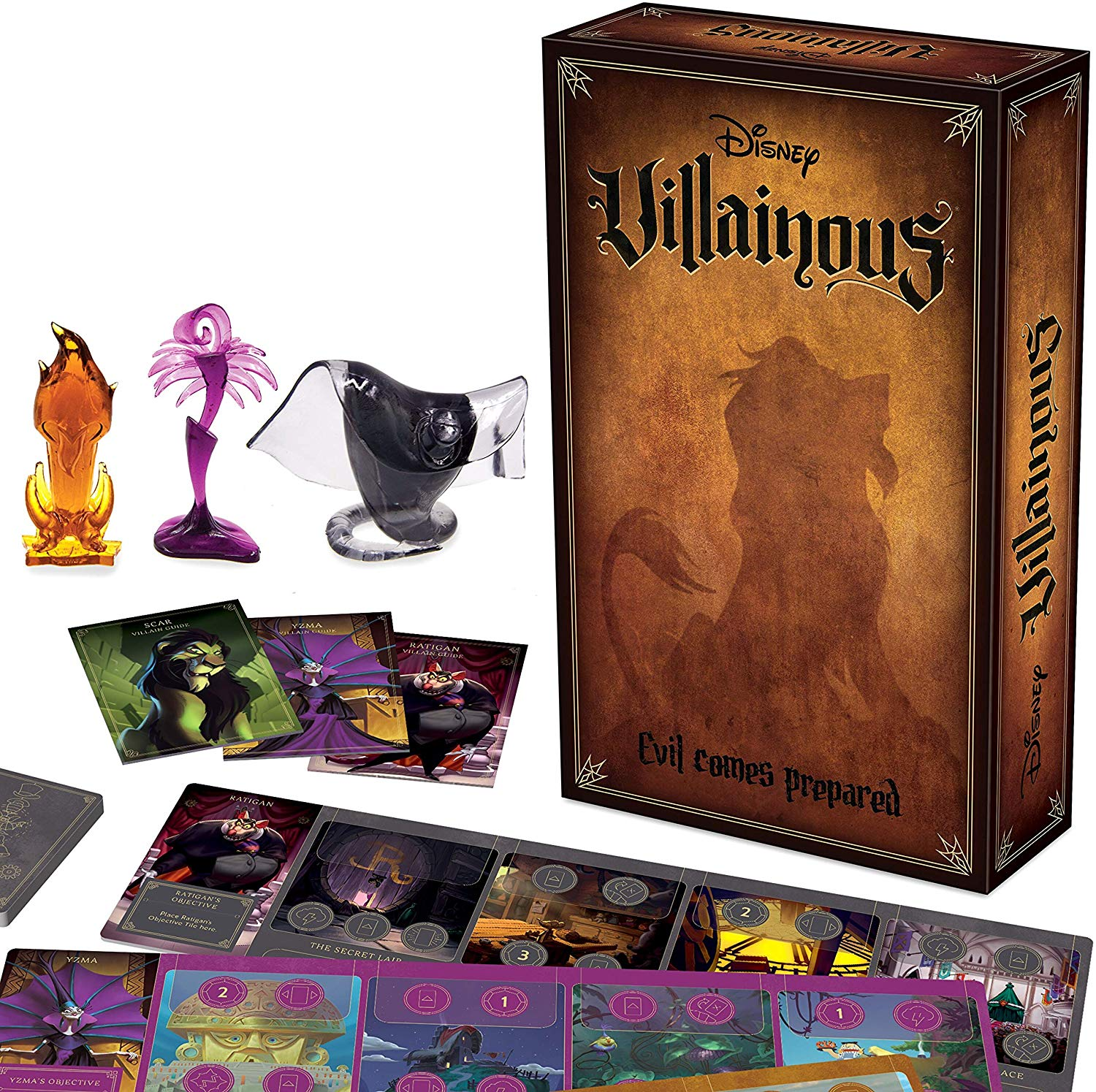 Disney Villianous Evil Comes Prepared. Characters you love - in this asymmetric style of game play, Each Disney villain has their own objectives and goals. Once you've figured out The best way to play as one Disney villain, try to solve another!