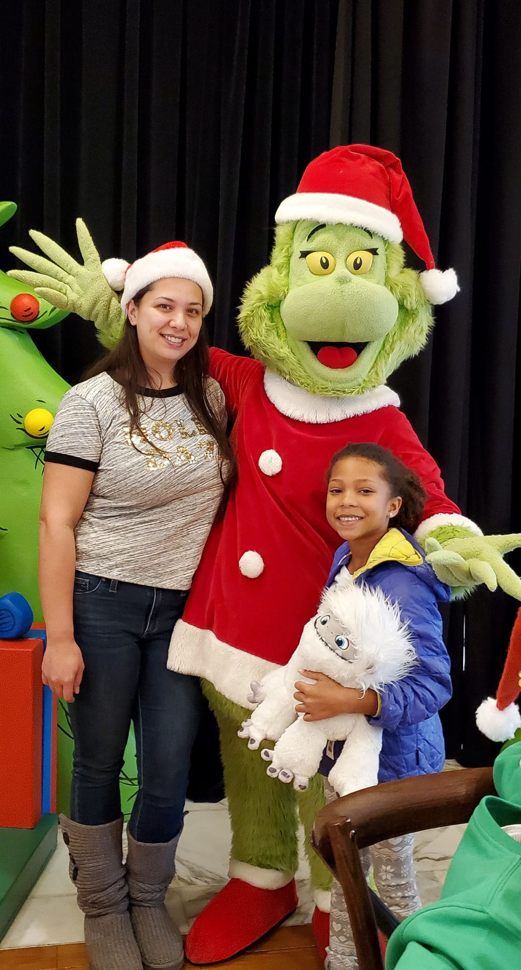 Feast With The Grinch Family Photo. Enjoy a delicious meal and meet the star of the holiday season…THE GRINCH himself! This one-of-a-kind interactive breakfast experience includes a buffet of Who-ville inspired items, table-side visits with The Grinch and Max and special touches Dr. Seuss fans are sure to adore.