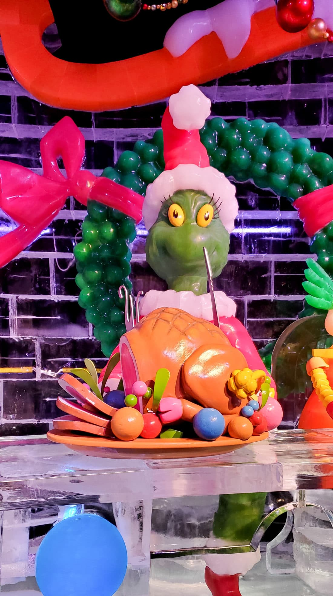 ICE How The Grinch Stole Christmas Feast. The must-see holiday attraction is back! ICE! featuring the 1957 Dr. Seuss classic, How The Grinch Stole Christmas! Watch how the Grinch tries to steal Christmas from the Whos of Who-ville through interactive ice sculptures and displays.
