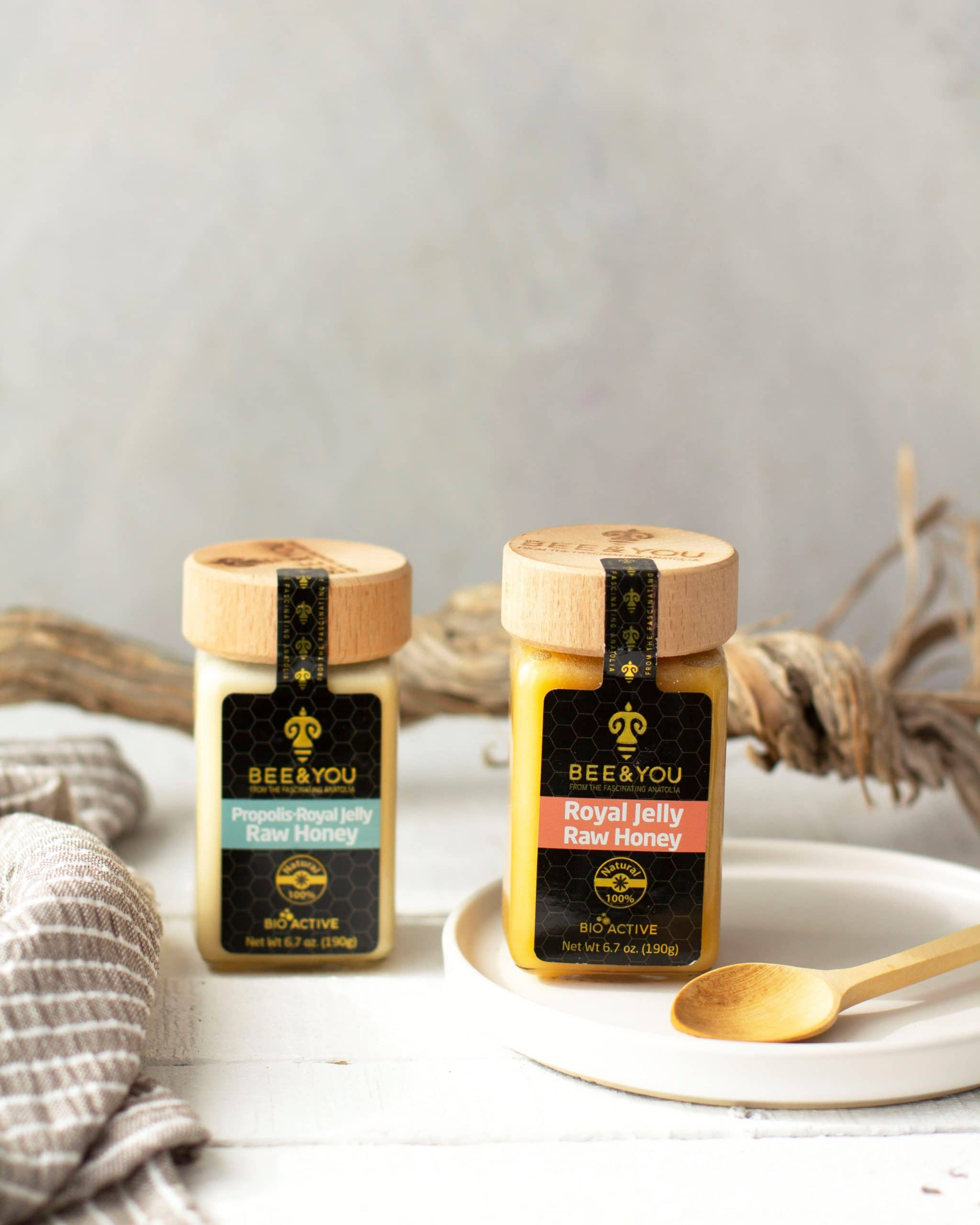 Bee and You products (Royal Jelly, Propolis,Pure Raw Honey) are antiviral, antibacterial and they are natural energy boosters. They are effective in fighting allergy (spring and fall) symptoms naturally and they are antibacterial, immune support