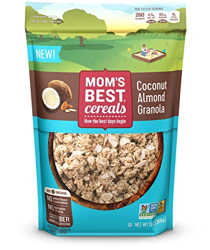 Mom's Best Coconut Almond Granola Cereal. The perfect holiday snack or recipe mix-in these high-quality, value-priced granolas come in four mouthwatering flavors.