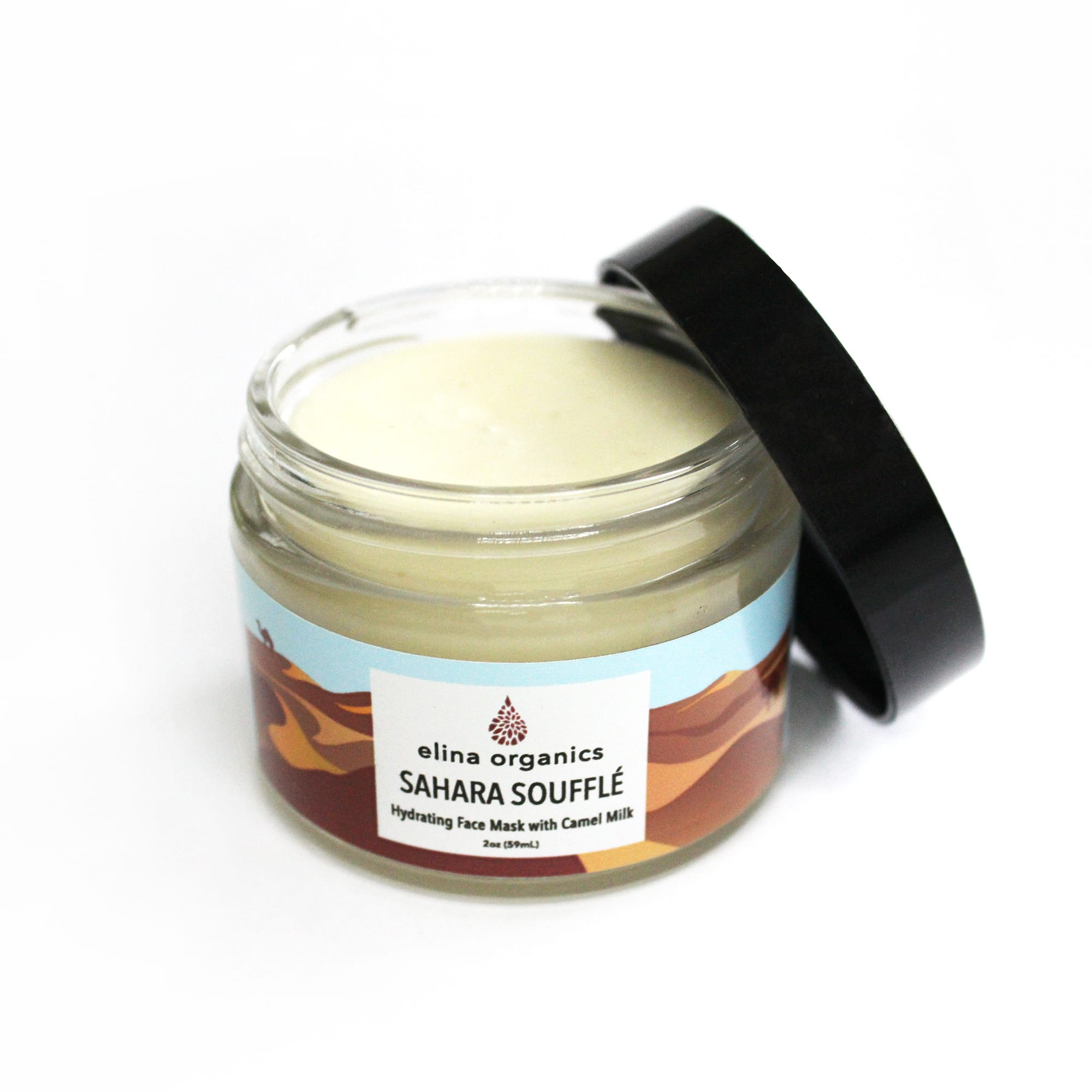 Elina Organics Sahara Souffle Face Mask with Camel Milk. The skincare fanatic will love this exotic, 100% organic beauty find. Made with Camel Milk, this deeply hydrating face mask contains a powerful balanced blend of skin-repairing nutrients like natural alpha-hydroxy acids, proteins, and vitamins.