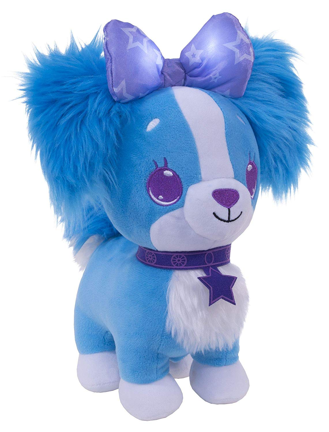 Say Hello to the magical Wish Me pets! the soft and sweet pets that let you wish upon a bow. Kiss their nose and their bow glows. Make a wish, blow a kiss and it's lights out and dreams away! Wish Me pets make sounds when you play with them.