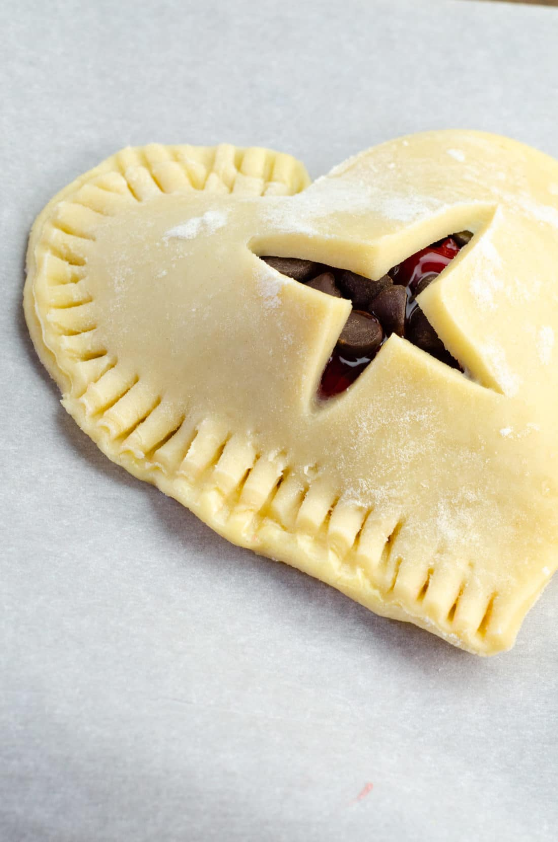 Chocolate Cherry Hand Pies Pie Crust . Say I heart you to someone special this Valentine's Day with a delicious homemade treat. Try my super easy to make Chocolate Cherry Hand Pies which include a from scratch buttery flaky pie crust.