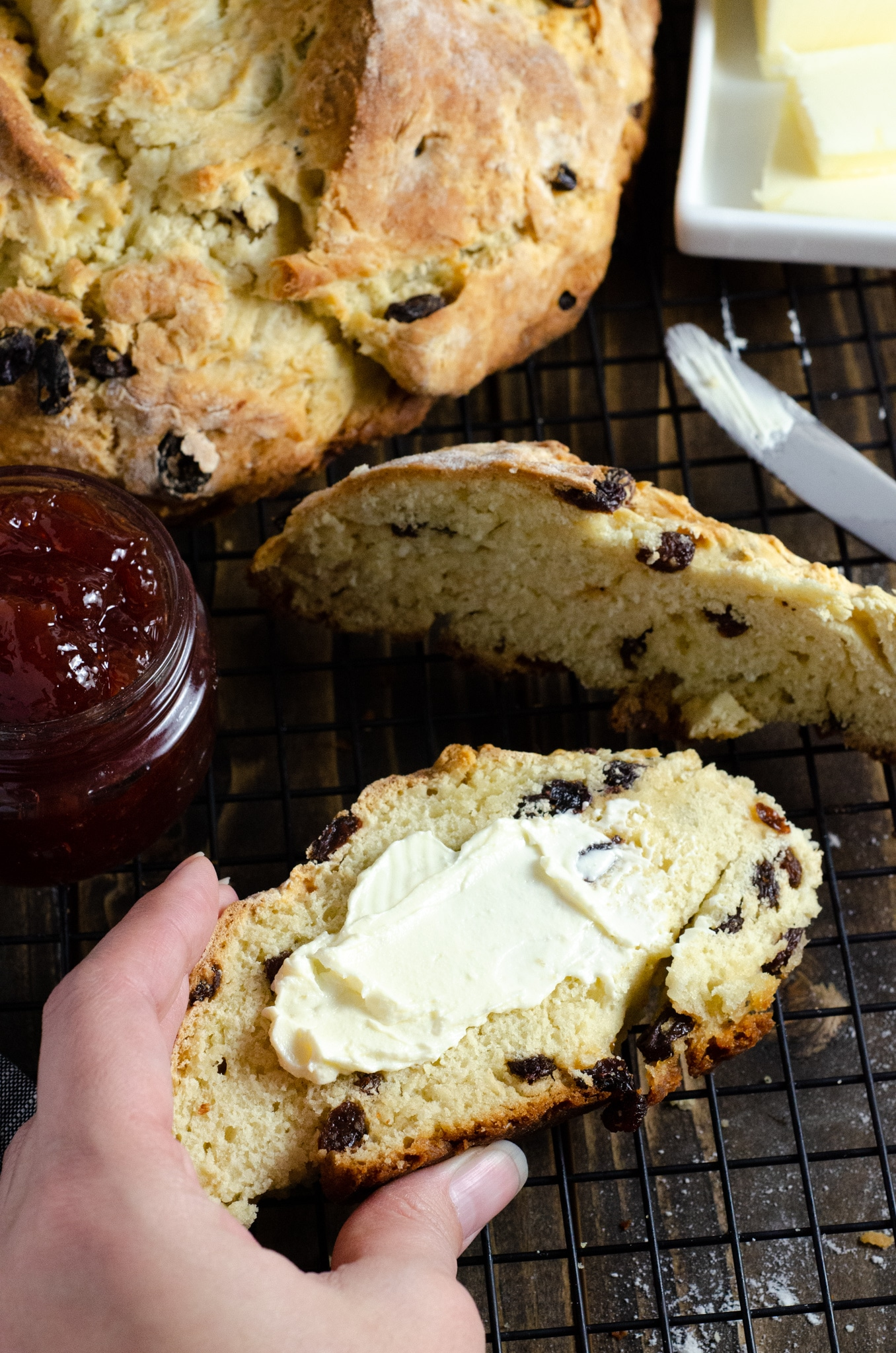 Irish Soda Bread with Butter. This Irish Soda Bread is a quick and easy bread recipe you can whip together and spoil your family with. Also known as quick bread, It's a no yeast bread recipe that will take over your home with the sweet smell of fresh-baked bread.