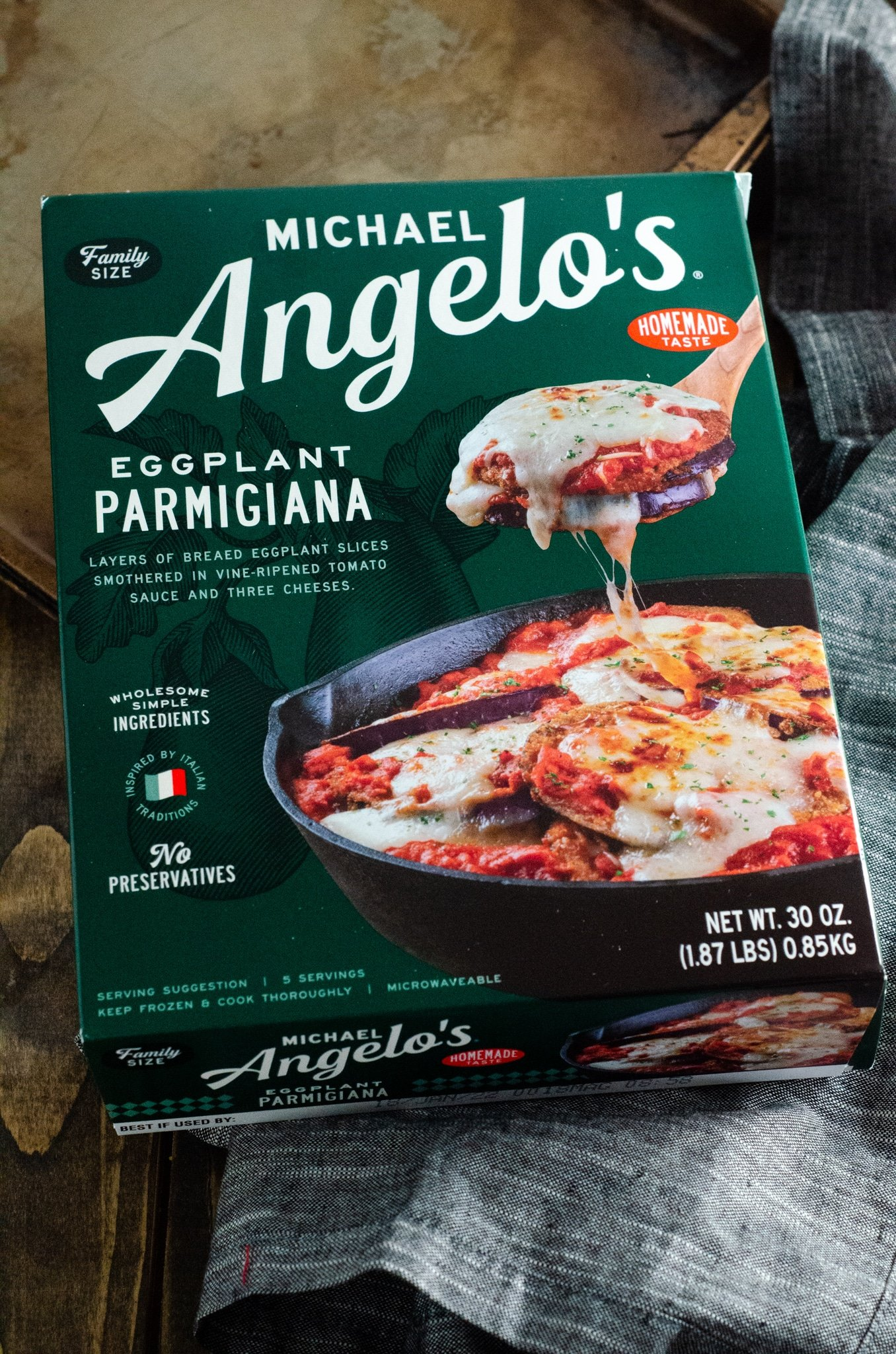 Michael Angelos Eggplant Lasanga Frozen Entree. March is National Frozen Food Month and what better way to celebrate it by shopping for your favorite frozen food brands at your local Harris Teeter. Michael Angelos Eggplant Lasanga is one of the many frozen foods you can grab this month and earn fuel points at Harris teeter.