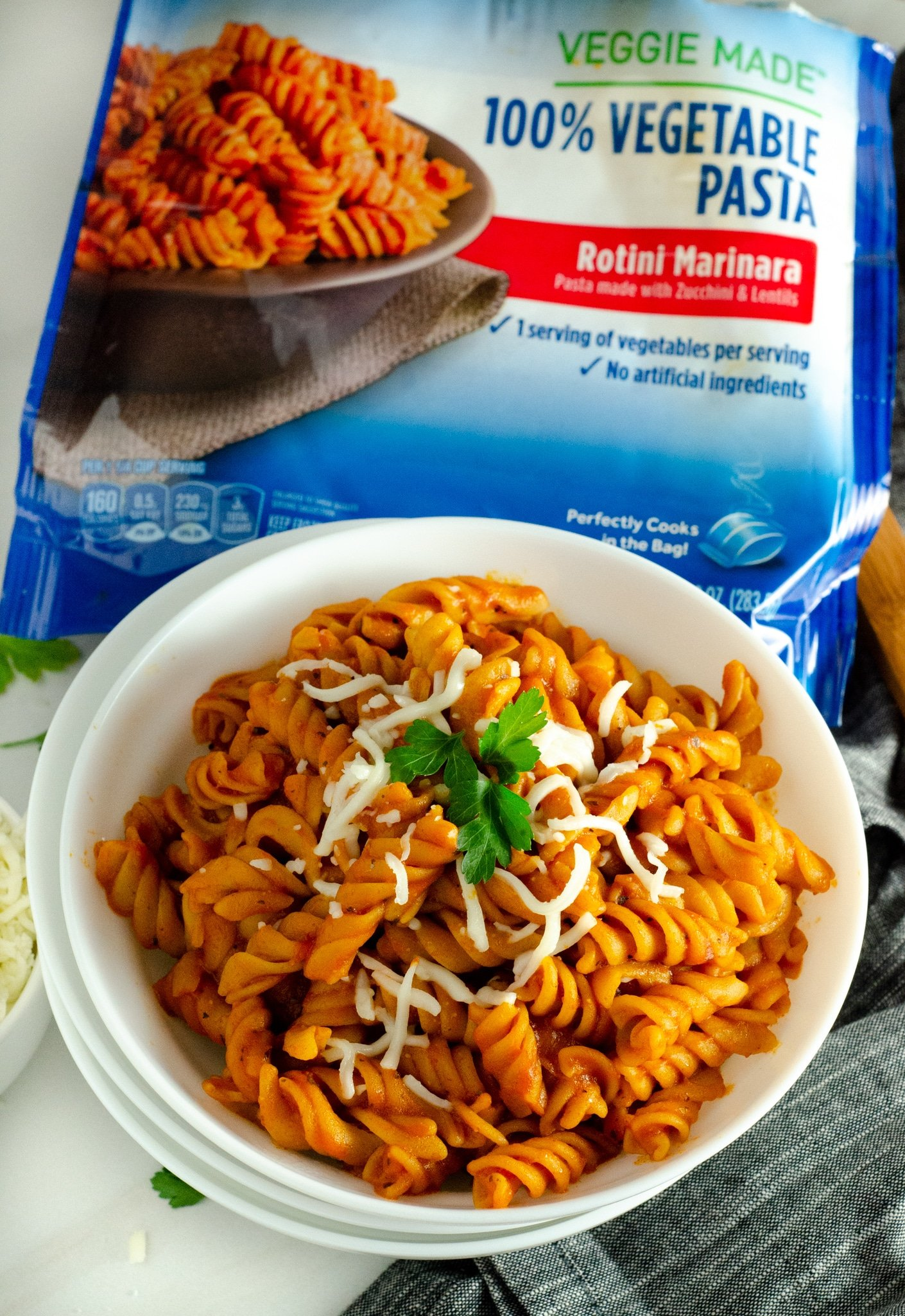 Birds Eye 100% Vegetables Rotini Marinara. March is National Frozen Food Month and what better way to celebrate it by shopping for your favorite frozen food brands at your local Harris Teeter. Grab this and other wonderful frozen food products in the freezer asile.