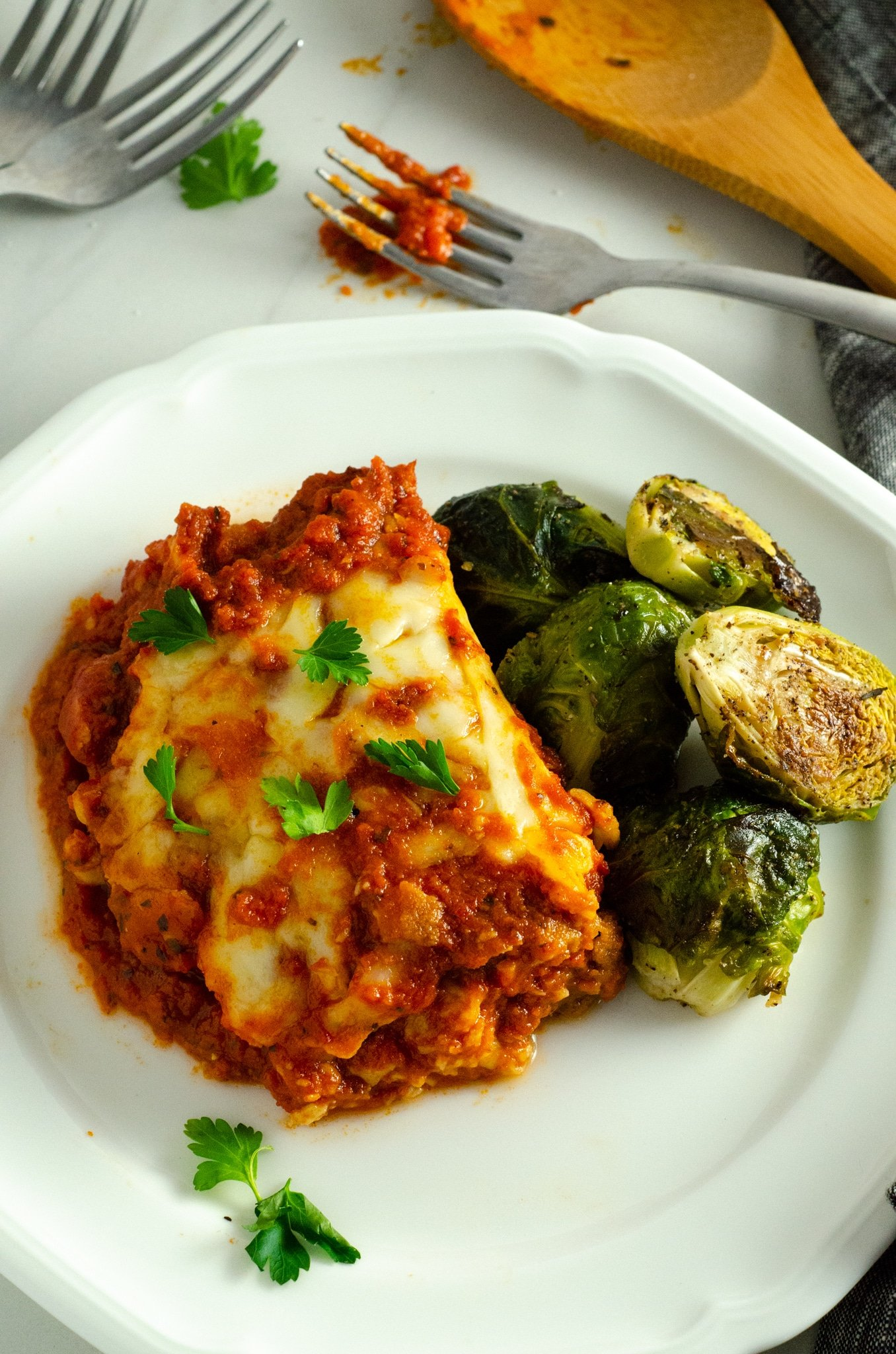 Michael Angelo's Eggplant Lasnga. March is National Frozen Food Month and what better way to celebrate it by shopping for your favorite frozen food brands at your local Harris Teeter. Grab this and other wonderful frozen food products in the freezer asile.