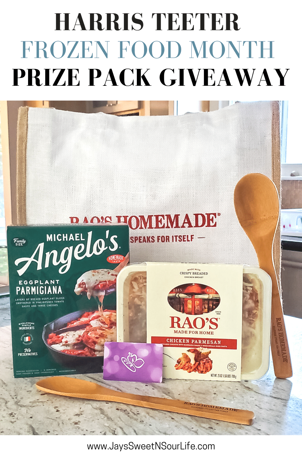 Harris Teeter Frozen Food Month Prize Pack Giveaway. March is National Frozen Food Month and what better way to celebrate it by shopping for your favorite frozen food brands at your local Harris Teeter. Enter to win an awesome prize pack which includes prizes from Michael Angelo's. Rao's and a Harris Teeter Gift Card.