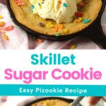Skillet Sugar Cookie. Bake up something delicious with my Skillet Sugar Cookie. Made with browned butter and baked in 5 inch cast iron skillets. This copcat BJ's Brewhouse recipe is full of flavor and perfect for sharing.