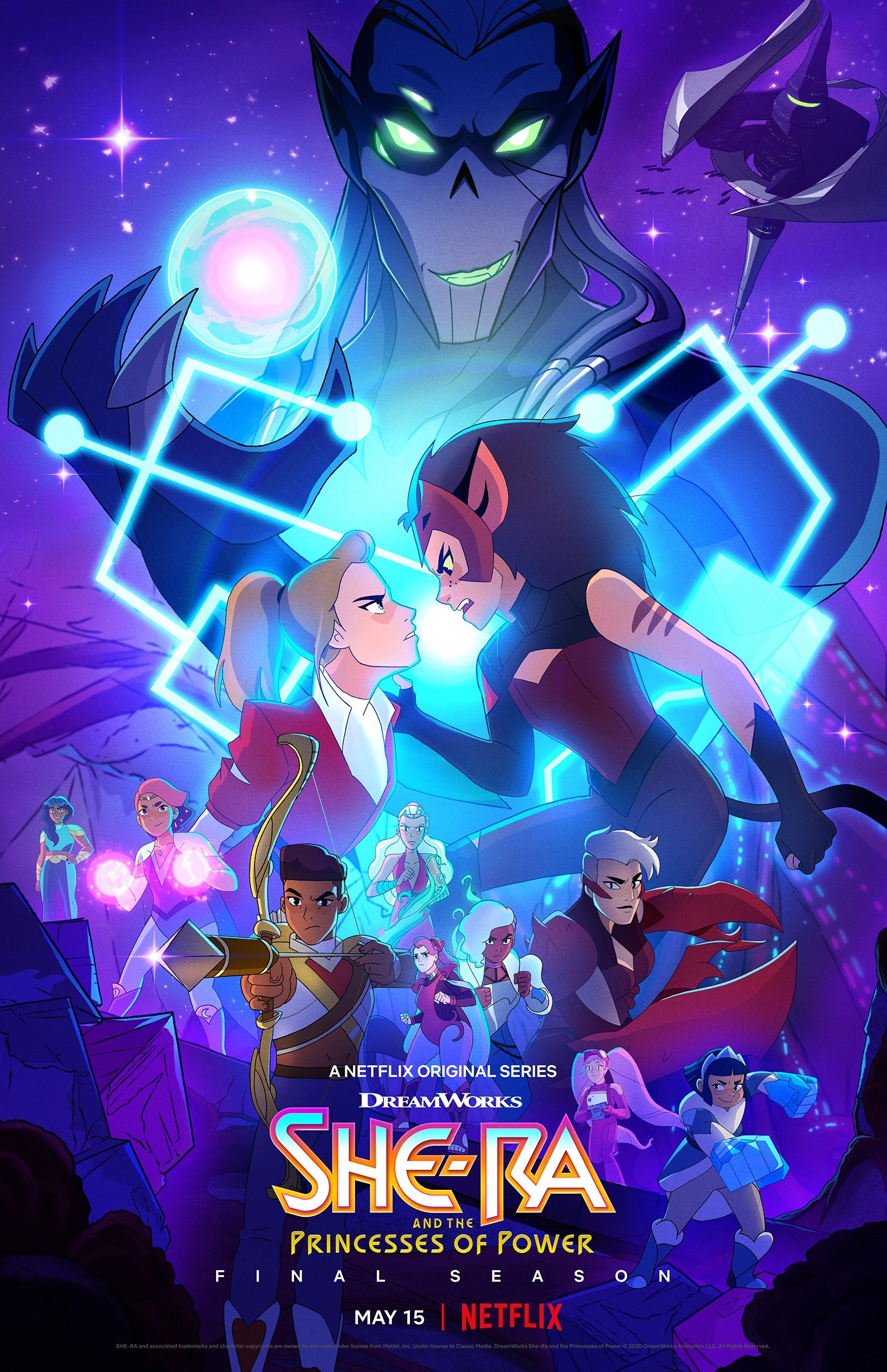 She Ra Season 5 Poster. In season 5, the ruthless Horde Prime has arrived and without the Sword of Protection and She-Ra, the Rebellion are facing their toughest challenge yet. Available on Netflix May 8th, 2020.