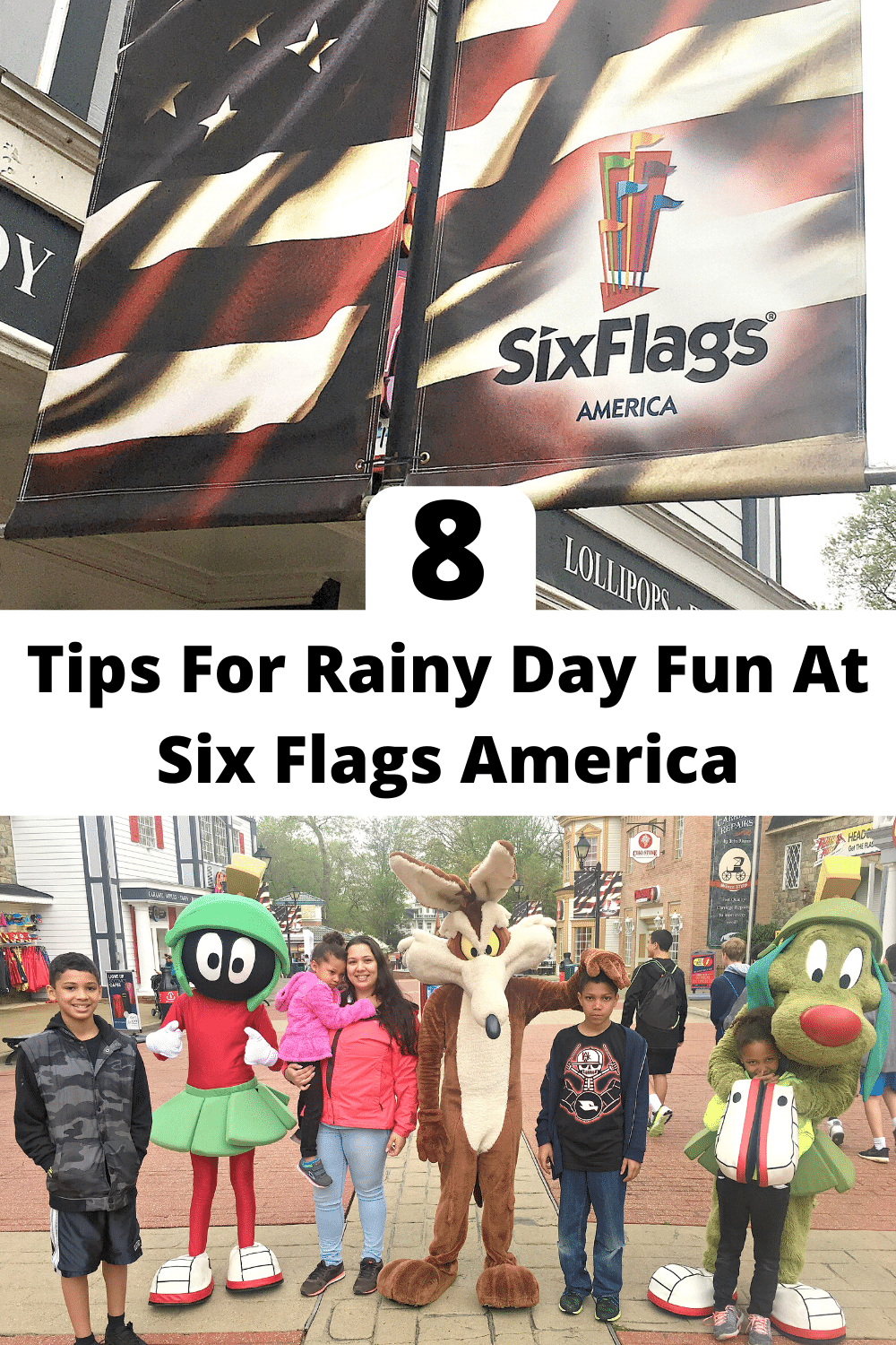 8 Tips For Rainy Day Fun At Six Flags America. Read my 8 Tips For Rainy Day Fun At Six Flags America, my tips include helpful information along with fun rides and attractions you can enjoy rain or shine.