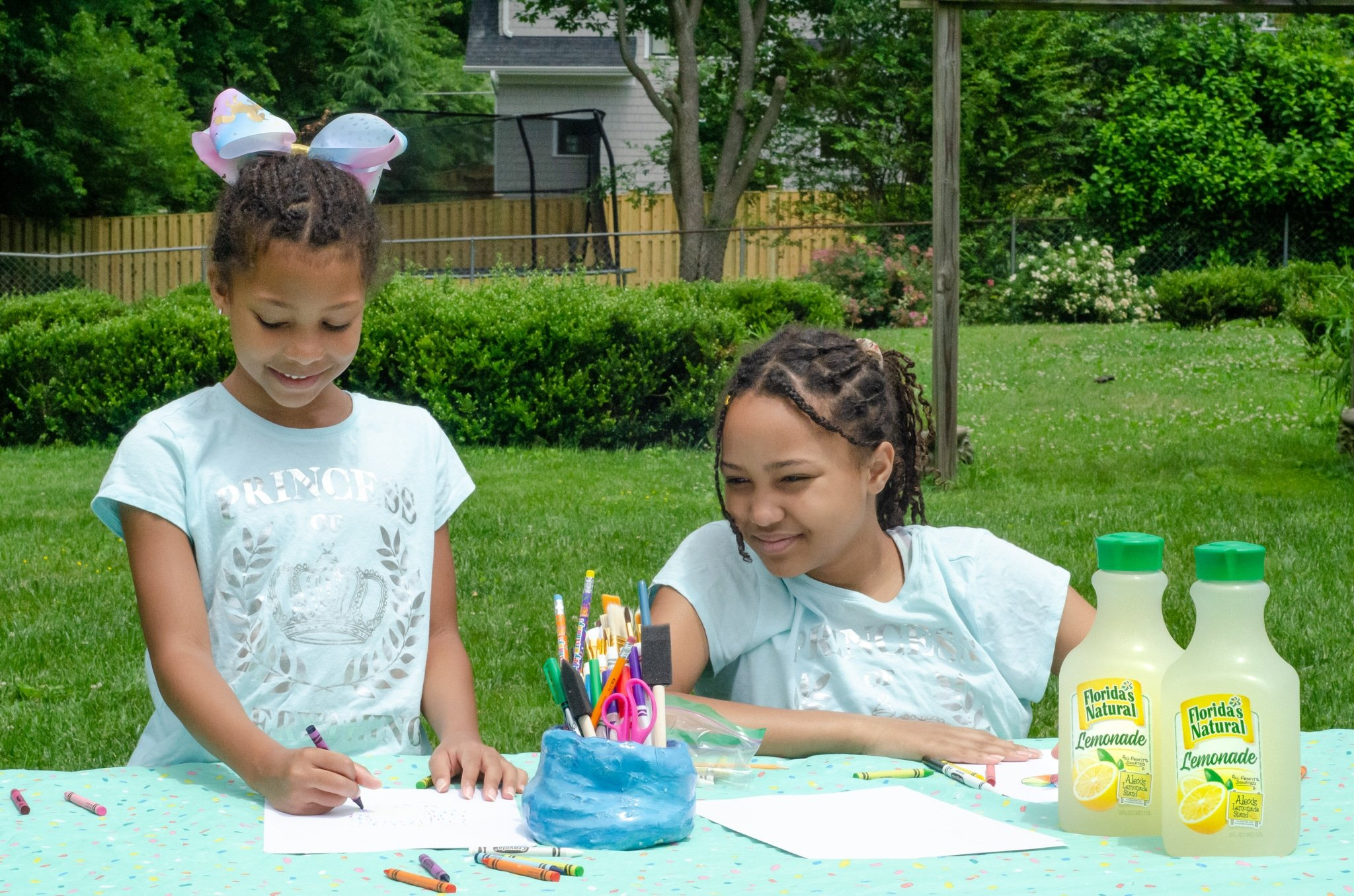 Lemonade Inspired Art Girls Coloring. Looking for a fun way to keep the kids entertained this summer? Celebrate the start of summer with Lemonade-Inspired Art In the Backyard.