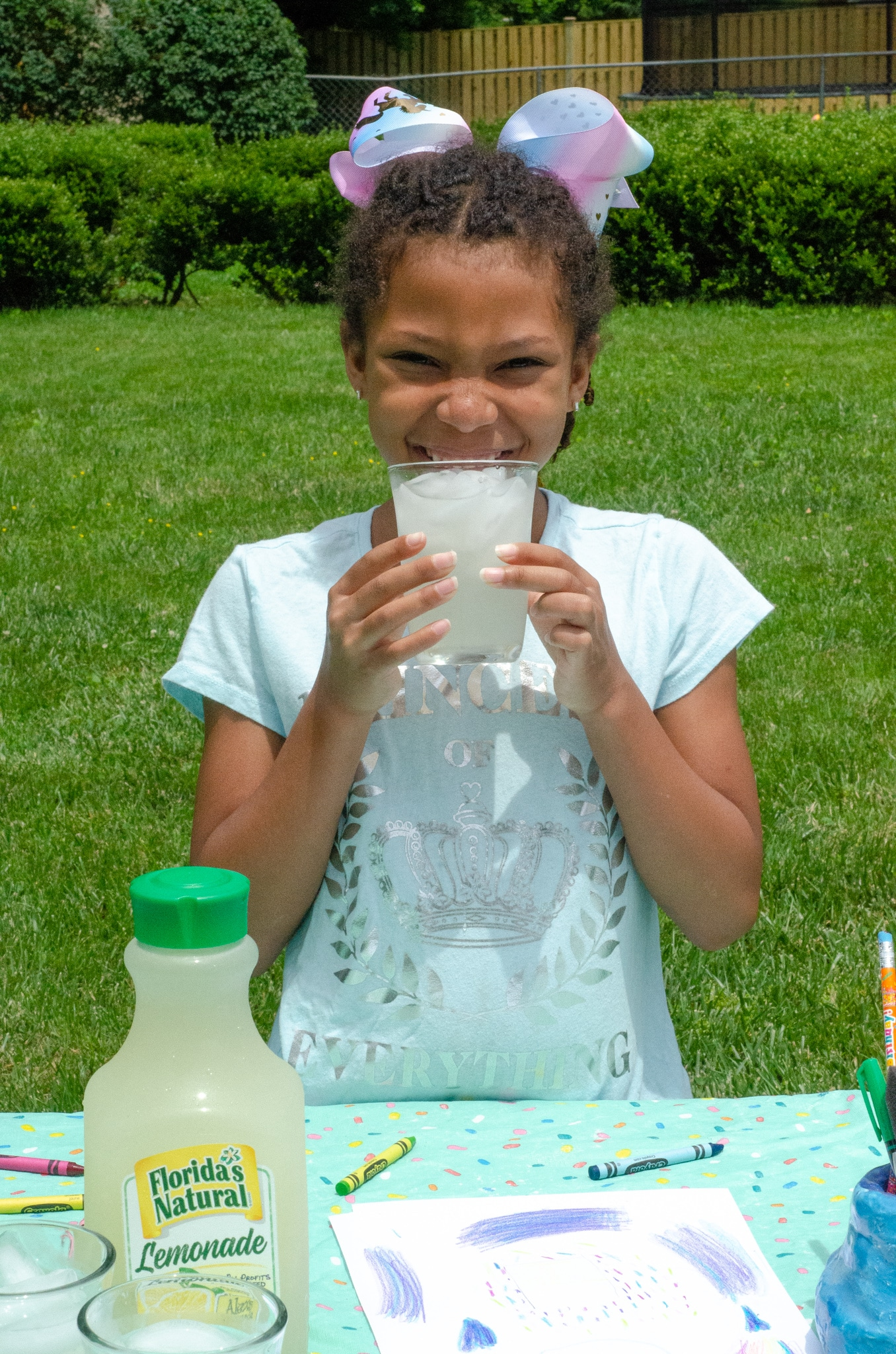 Lemonade Inspired Art Happy Esuun. Looking for a fun way to keep the kids entertained this summer? Celebrate the start of summer with Lemonade-Inspired Art In the Backyard.