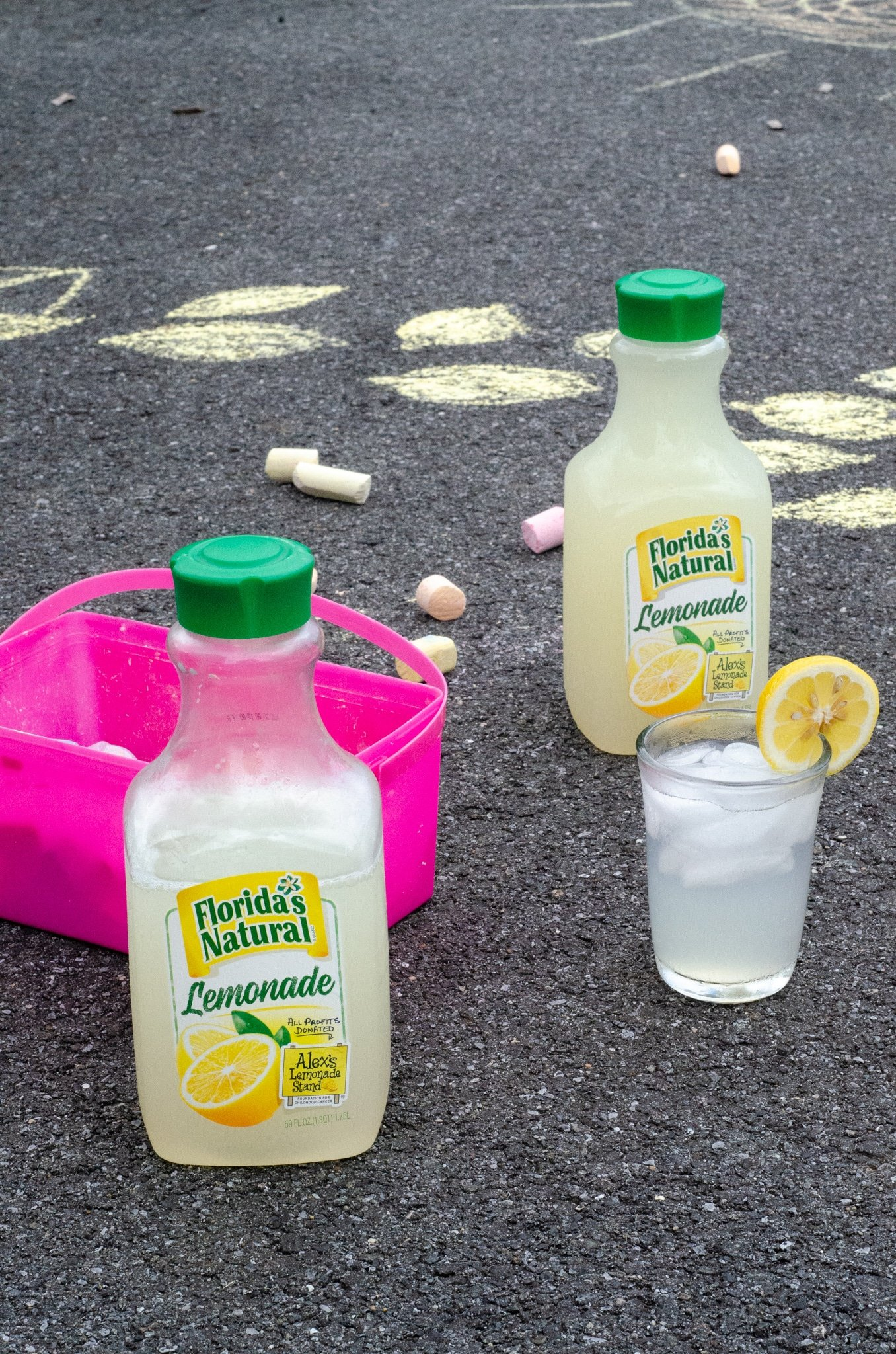 Lemonade Inspired Art Concrete. Looking for a fun way to keep the kids entertained this summer? Celebrate the start of summer with Lemonade-Inspired Art In the Backyard.