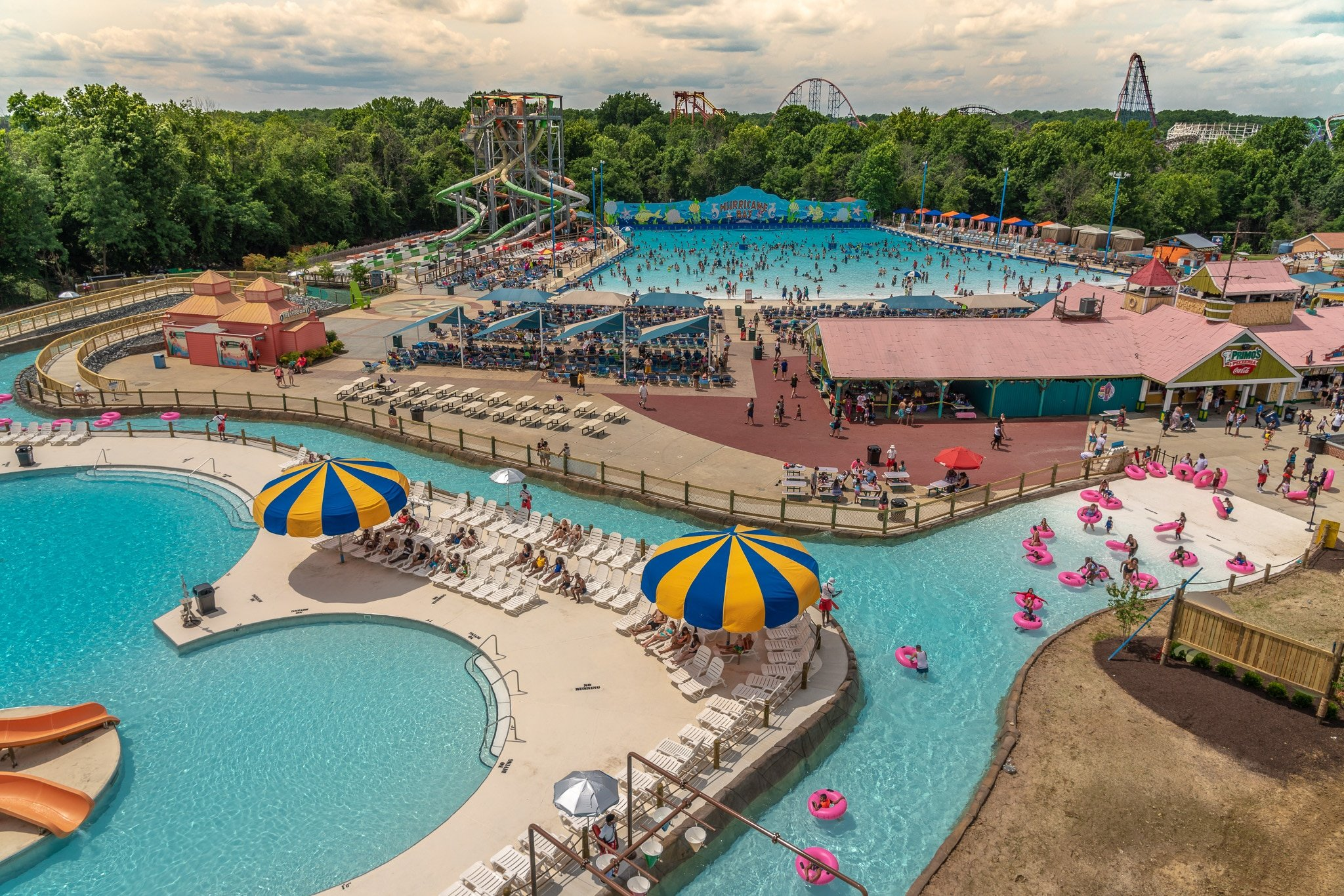 Whaoo River and Hurricane Harbor. Six Flags America is welcoming back their guests starting Friday, July 3. With new safety measures, hygiene protocols and new technology systems to protect their guests and employees, they plan to open Hurricane Harbor for the summer crowd..