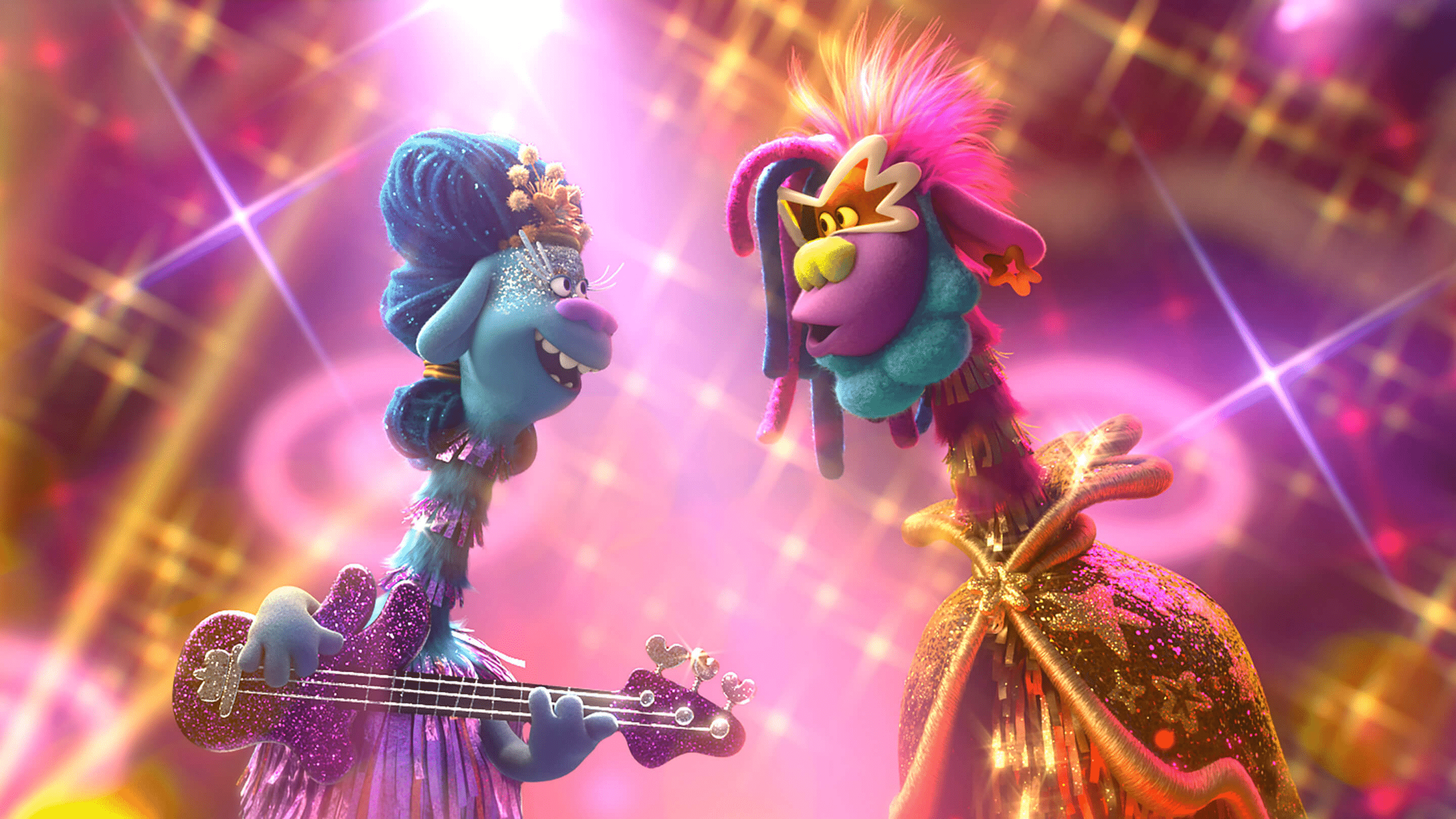 Queen Essence (Mary J. Blige) and King Quincy (George Clinton). Queen Poppy, Branch, and the rest of your favorite Trolls are back for another musical adventure that's bigger and louder than ever before! In TROLLS WORLD TOUR, Poppy and Branch discover that their kingdom is only one of six musical realms Funk, Country, Techno, Classical, Pop, and Rock that was once united in perfect harmony.