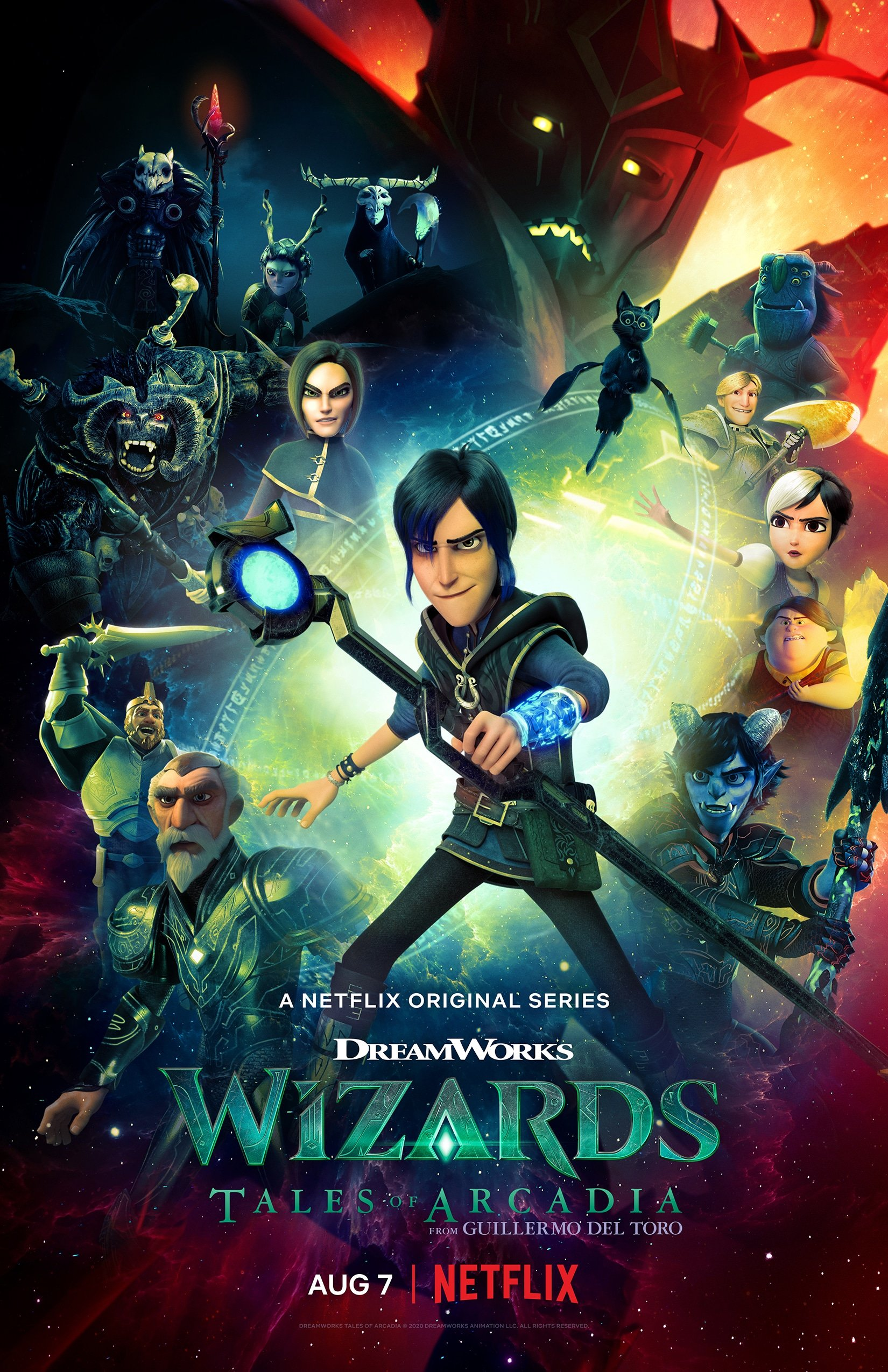 DreamWorks Wizards: Tales of Arcadia. Join our favorite supernatural heroes on a time-bending adventure to medieval Camelot. The magic continues the final chapter of the Tales of Arcadia saga, Wizards! Coming to Netflix August 7, 2020.