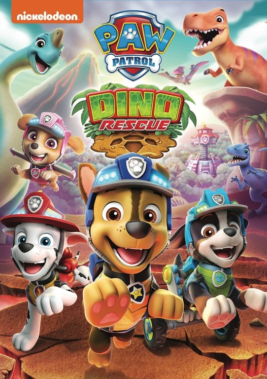 PAW Patrol: Dino Rescue DVD. ROAR into a prehistoric land with the PAW Patrol in these six dino-mite tales, including two double-length missions. Join the pups as they roll into Dino Wilds to keep their new friends safe from an erupting volcano and a scheming dino egg thief. Then, the team gears up for a robotic dinosaur adventure.