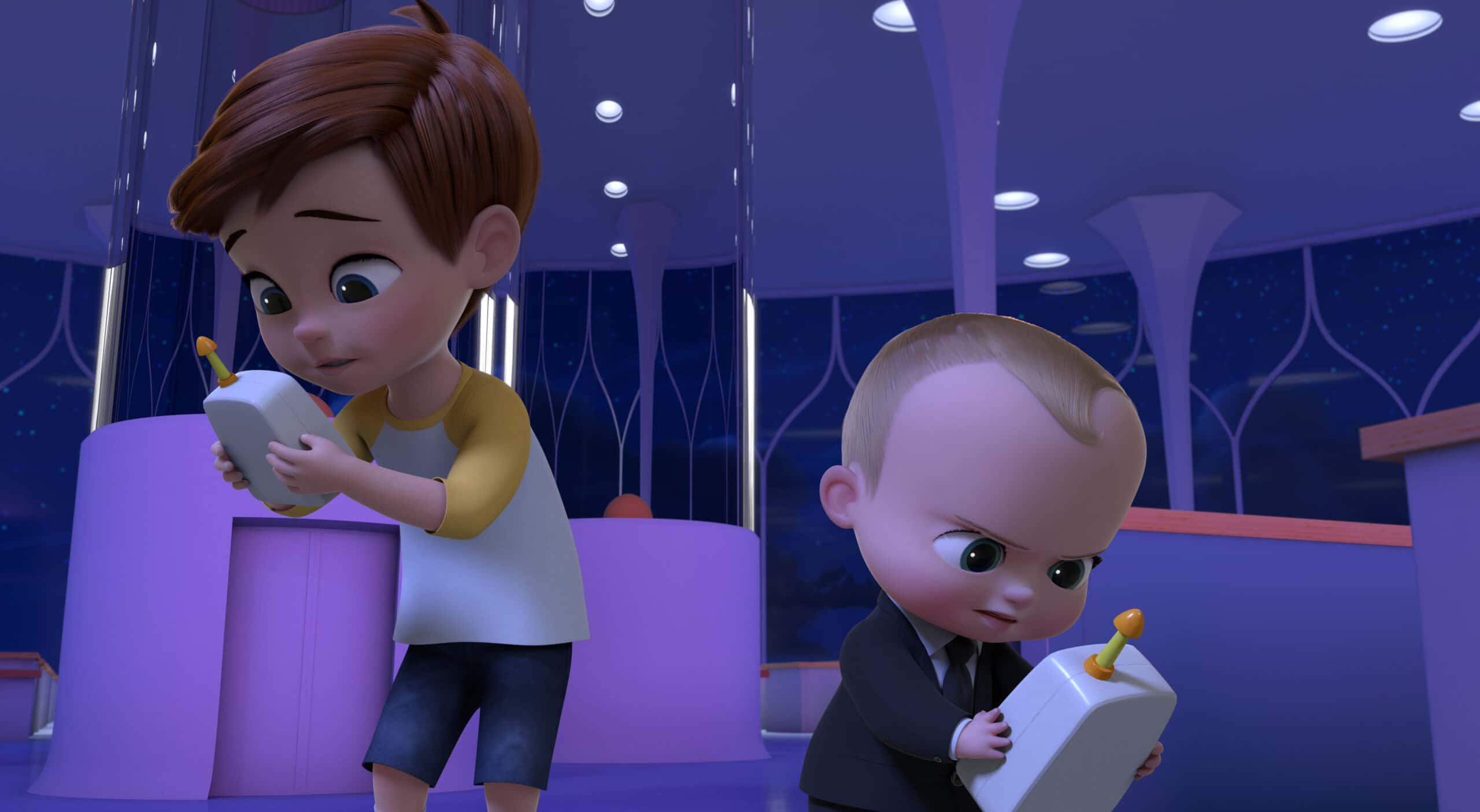 Tim and Boss Baby DreamWorks The Boss Baby: Get That Baby!. Welcome to the Baby Corp Job Simulator! Through a series of interactive (and hilarious) choices, you will fight off Boss Baby's villains, save Baby Corp, and discover the perfect position for the company's newest recruit: you! DreamWorks The Boss Baby Get That Baby! interactive special comes to Netflix on September 1st.