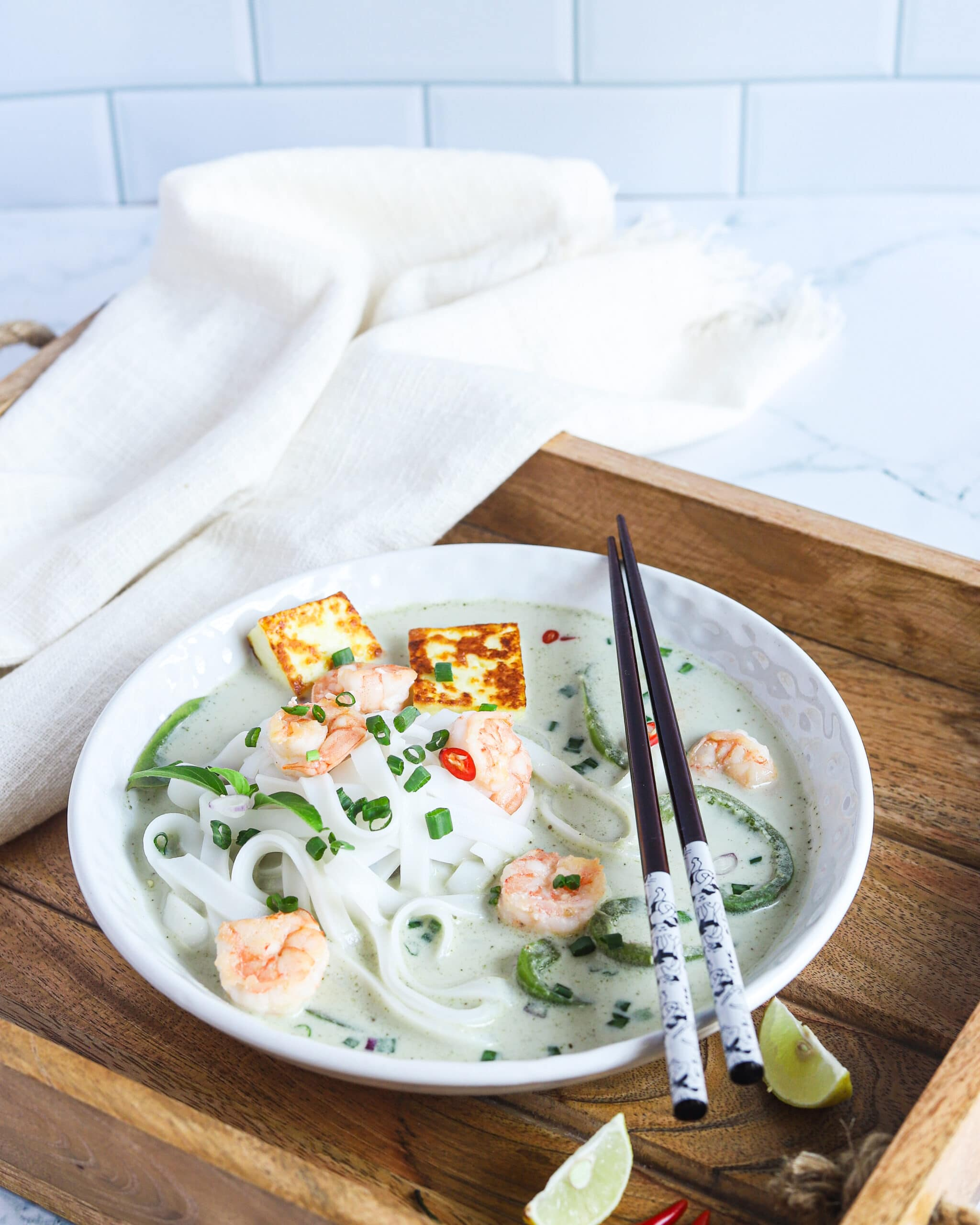 Thai Green Curry Noodles Chopsticks. These Thai Green Curry Noodles boast a flavorful broth made with coconut milk and fresh ingredients. Fill your bowl with fresh veggies, shrimp, tofu, and rice noodles for a flavorful easy weeknight dinner recipe.