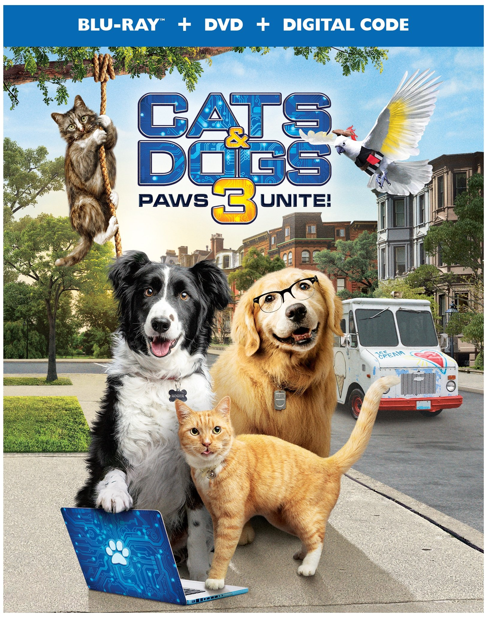 Cats and Dogs 3: Paws Unite! Poster. Discover who has the upper paw in Cats & Dogs 3: Paws Unite!,the next feature-length installment of the popular Cats & Dogs franchise from Warner Bros. Home Entertainment. Available on Digital on September 15 and on both Blu-ray Combo Pack and DVD on October 13.
