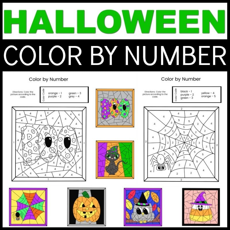 Halloween Color By Numbers Printables. These free Halloween Color By Numbers Printables are loads of fun for all ages. Grab your spooky fun printables on my blog for a creepy good time.