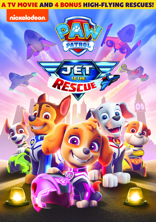 PAW Patrol: Jet to the Rescue DVD. Get ready to zoom back to Barkingburg with the pups in this all-new TV movie. When the scheming Duke of Flappington steals a powerful levitation gem from the royal castle, it's up to the PAW Patrol to jet to the rescue before the town is lost forever.