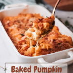 Easy Baked Pumpkin Mac and Cheese. This Easy Baked Pumpkin Mac and Cheese is ultra-creamy, perfectly cheesy, and gooey. Topped with a crispy parmesan breadcrumb crust it's the perfect fall dish for the whole family.