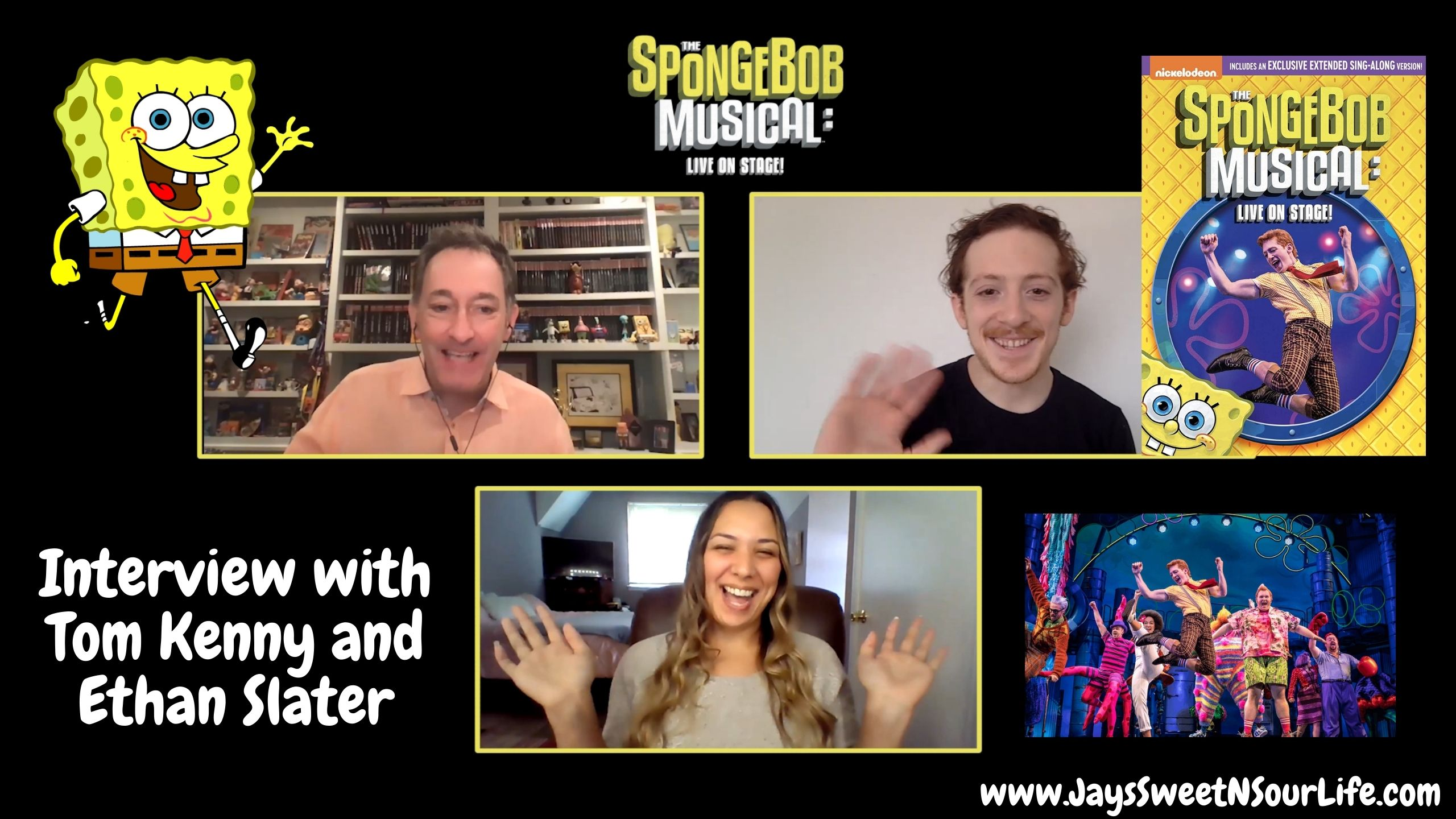 Interview with Tom Kenny and Ethan Slater. Watch my exclusive interview with Tom Kenny and Ethan Slater as we discuss The SpongeBob Musical: Live on Stage! Coming to DVD & Digital Nov 3rd, 2020. Find out what he worlds ONLY 2 Spongebobs think about this incredible under the sea adventure LIVE on stage in Bikini Bottom.