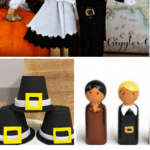 Get crafty with these 12 Pilgrim Crafts for Kids, perfect for are all ages. These fun crafts are a fun family-friendly Thanksgiving activity. Decorate your homes or your use your creations for table toppers for your family's Thanksgiving dinner.